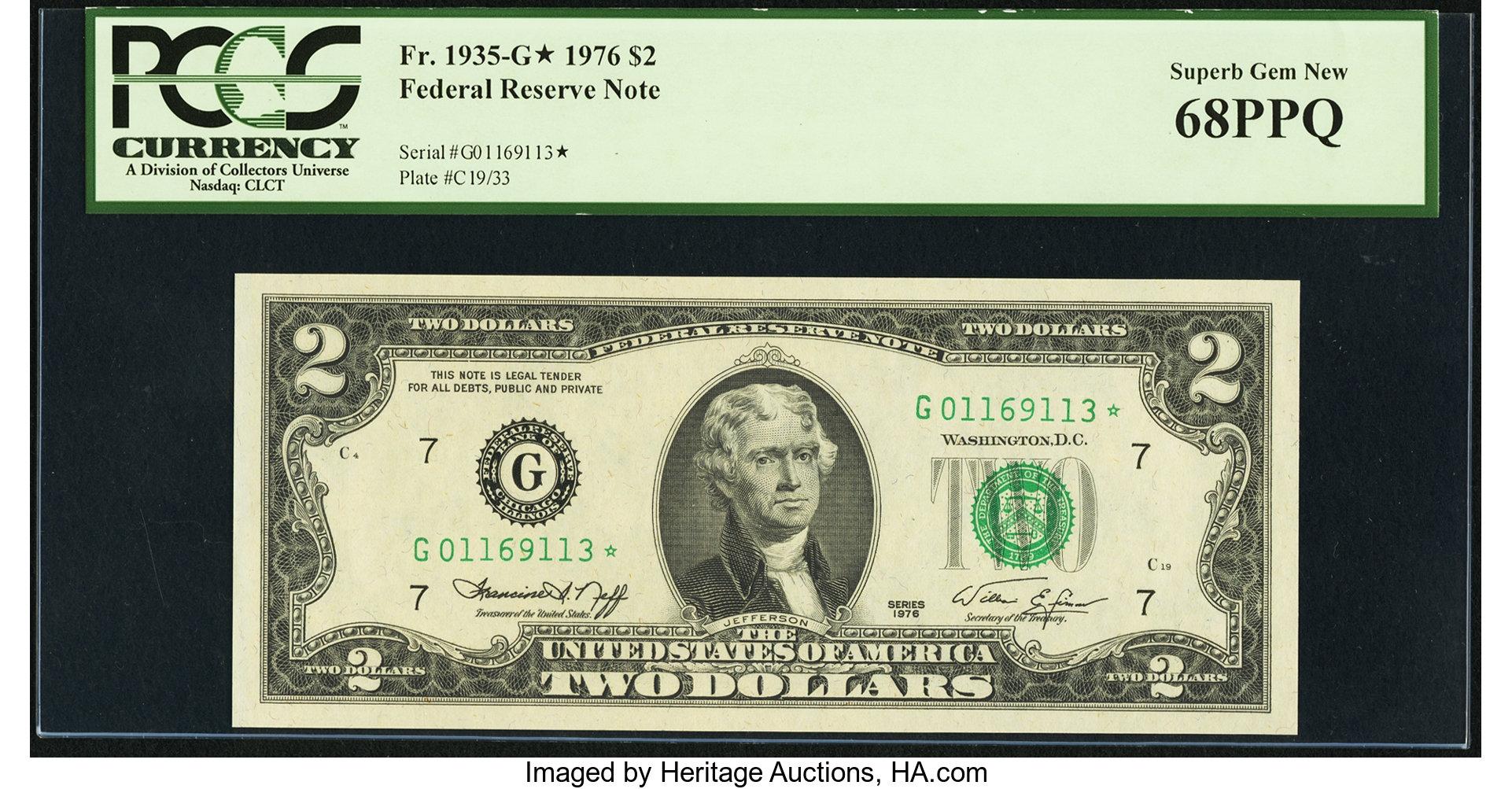 sample image for 1976 $2  Chicago (Fr.# 1935G*)