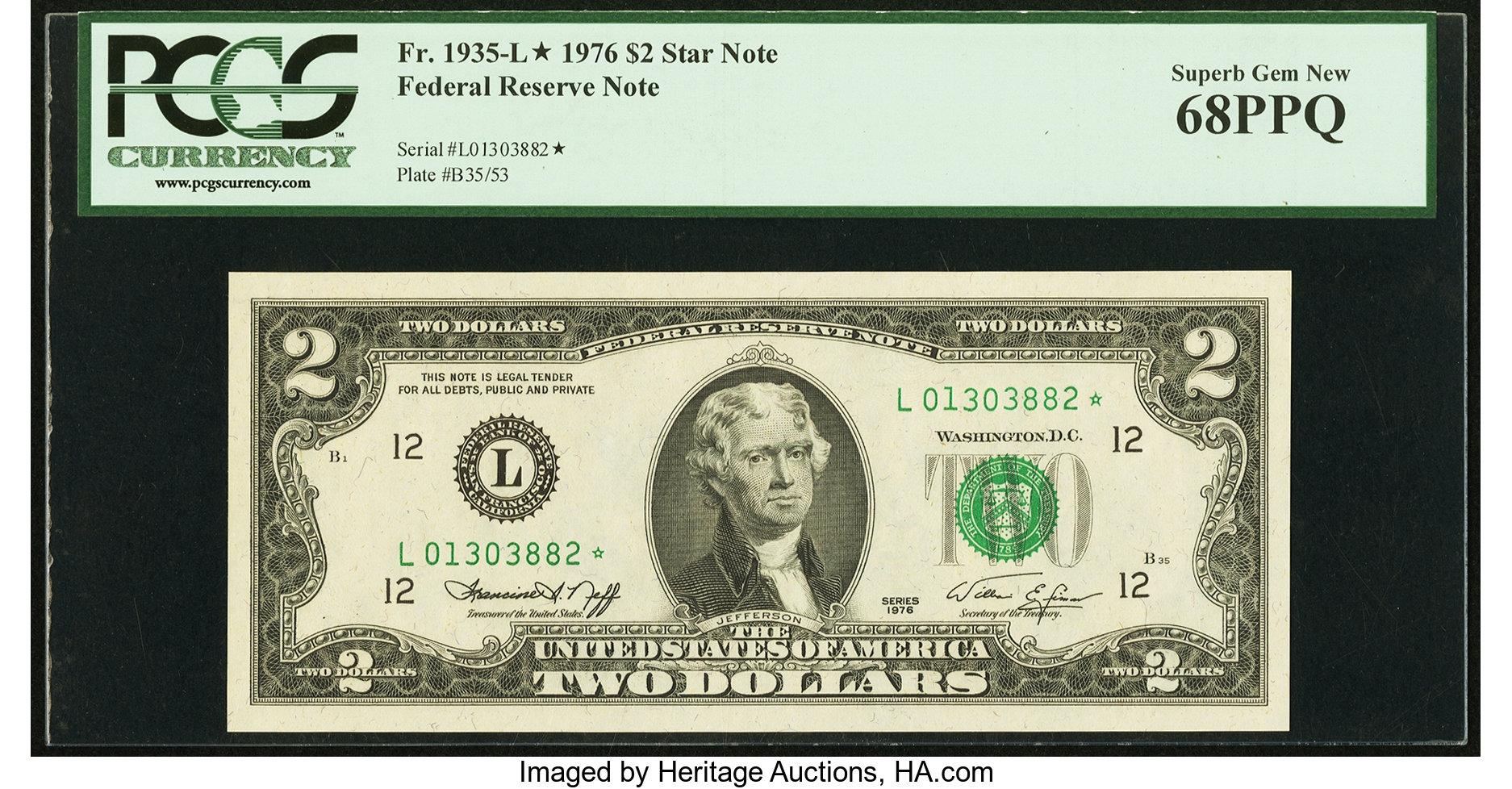 sample image for 1976 $2  San Francisco (Fr.# 1935L*)