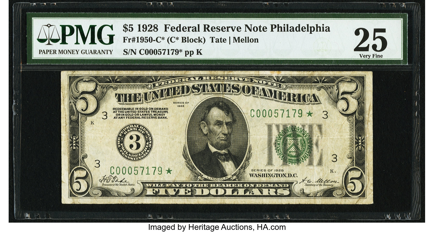 sample image for 1928 $5  Philadelphia (Fr.# 1950C)