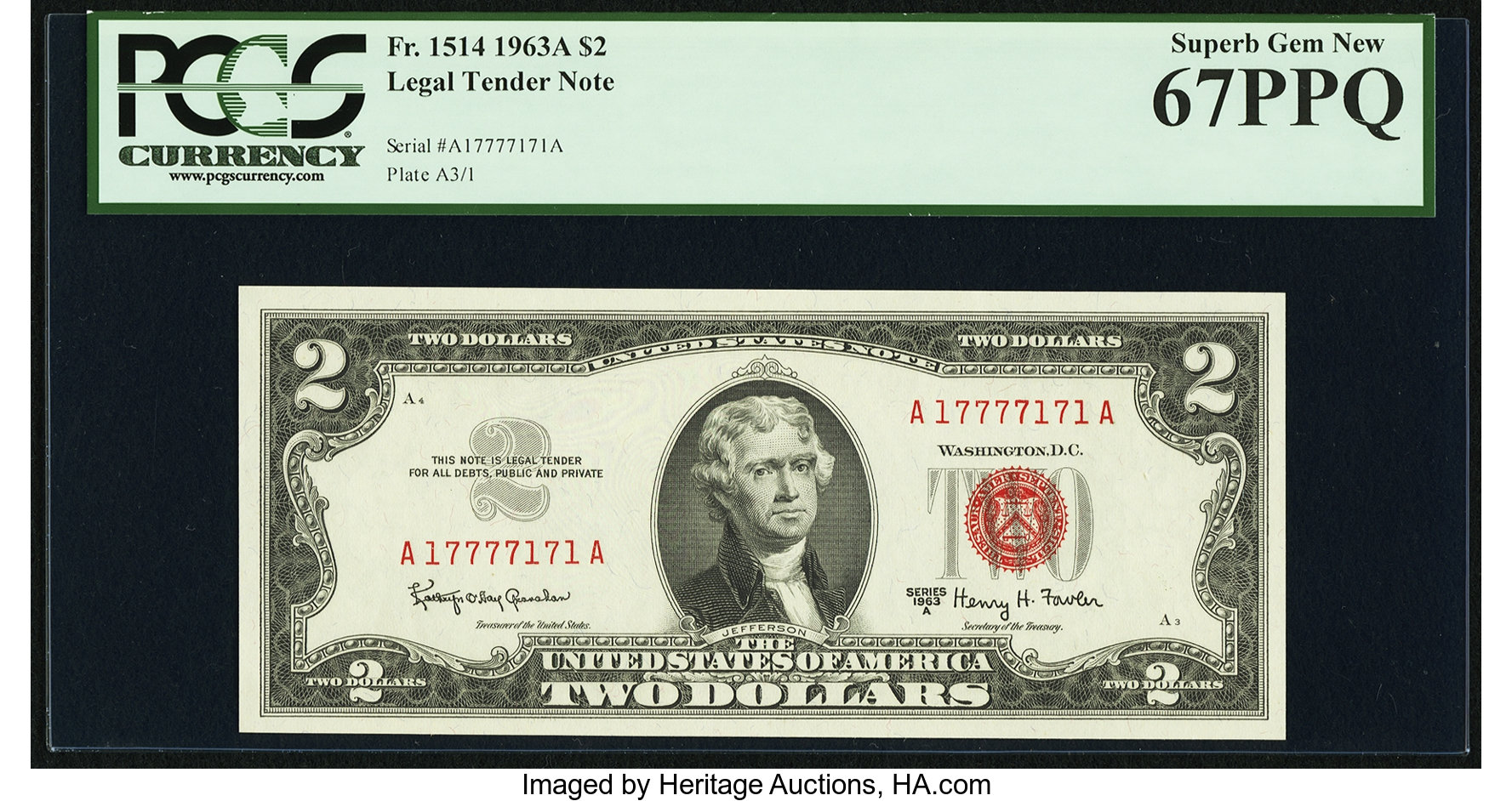 sample image for 1963A $2  (Fr.# 1514)