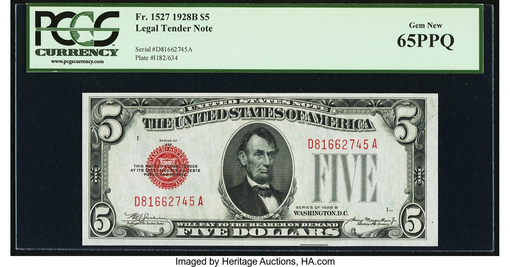 sample image for 1928B $5  (Fr.# 1527)