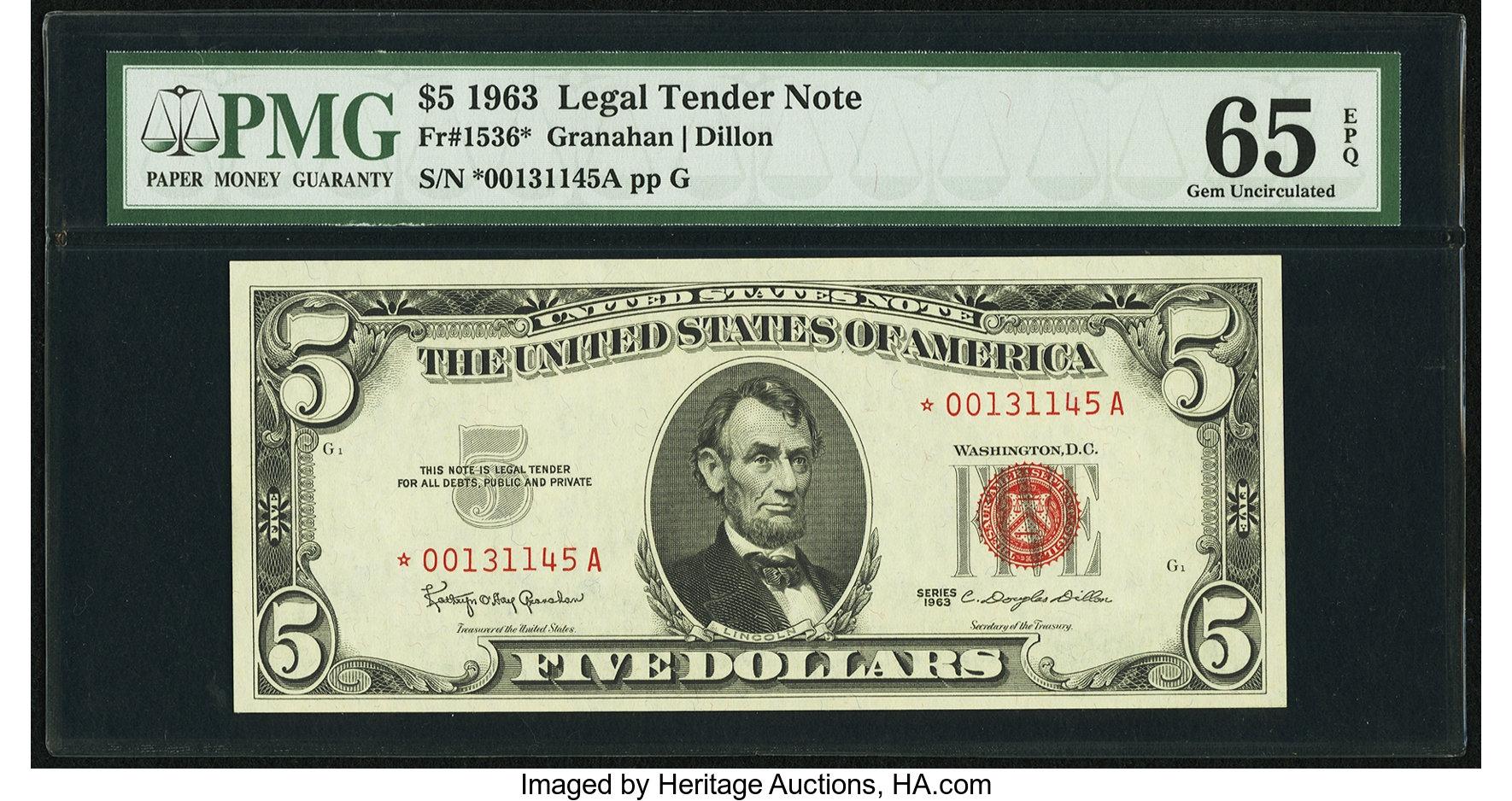 sample image for 1963 $5  (Fr.# 1536*)