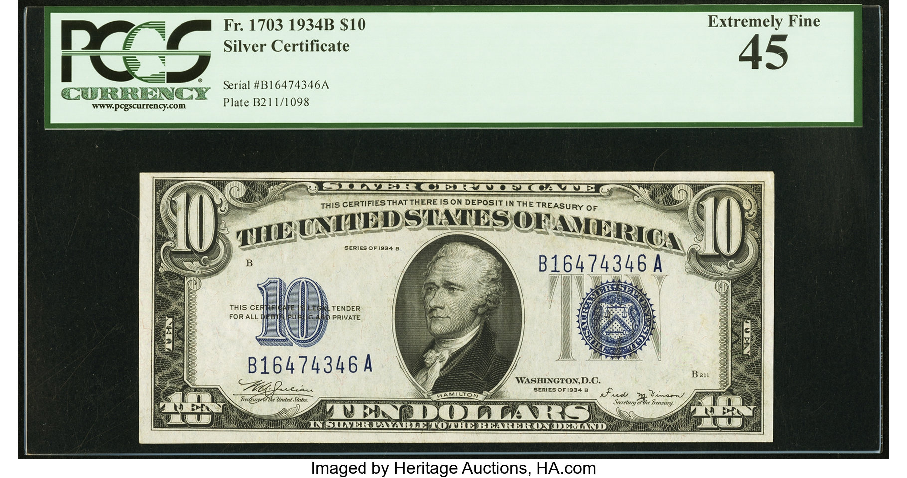 sample image for 1934B $10  (Fr.# 1703)