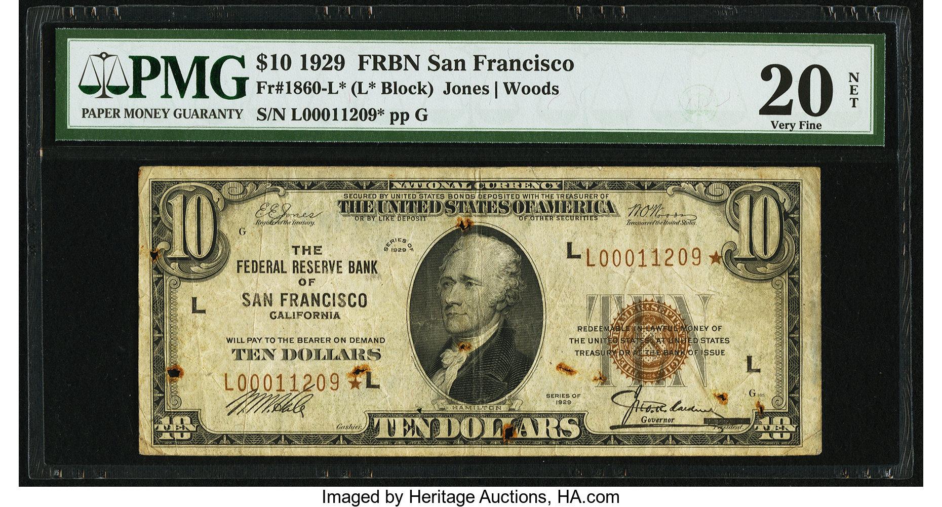 sample image for 1929 $10  San Francisco (Fr.# 1860L)