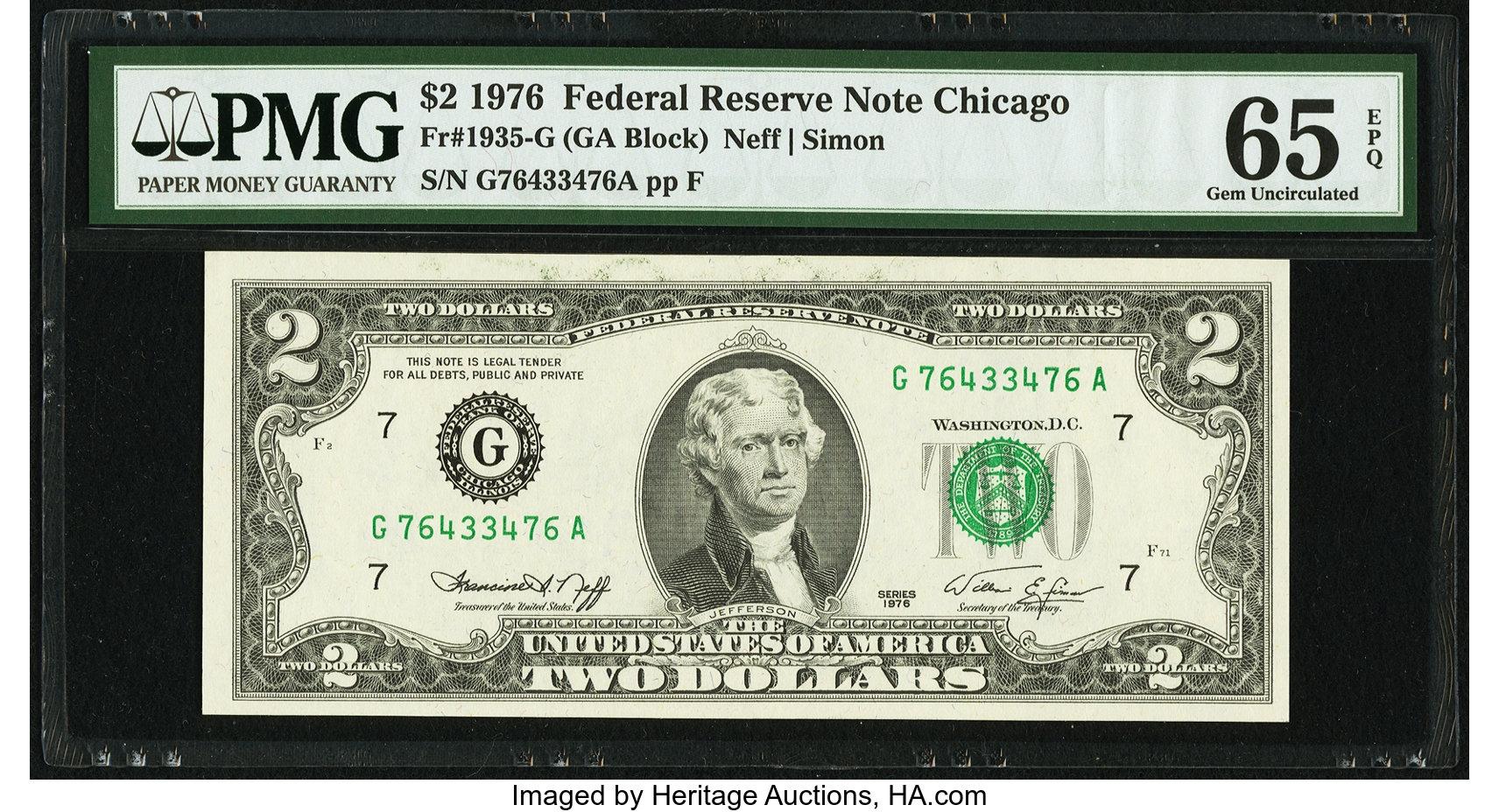 sample image for 1976 $2  Chicago (Fr.# 1935G)