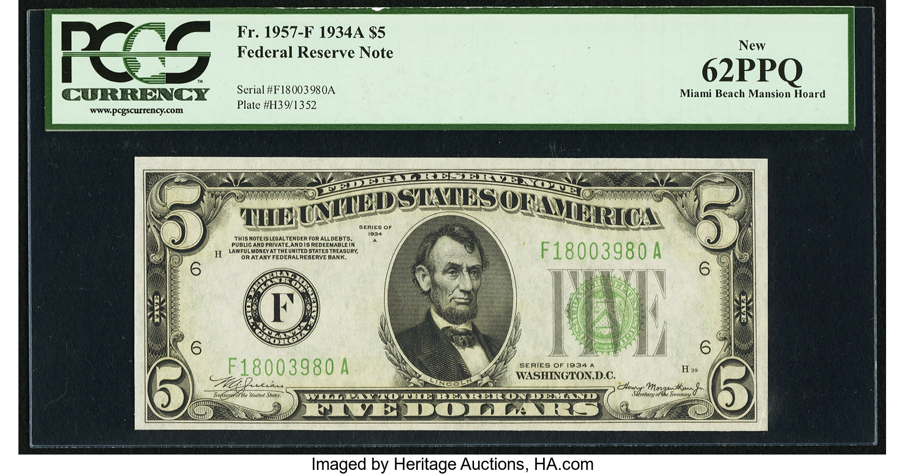 sample image for 1934A $5  Atlanta (Fr.# 1957F)