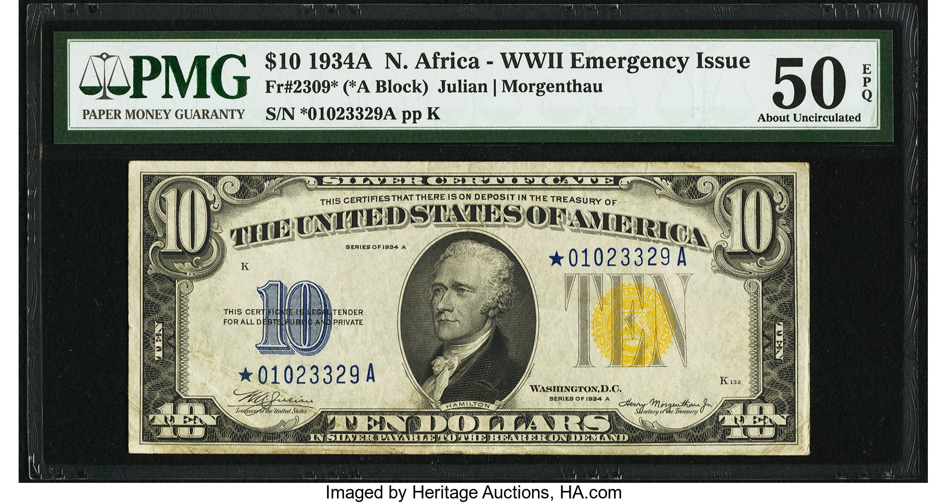 sample image for 1934A North Africa $10  (Fr.# 2309*)