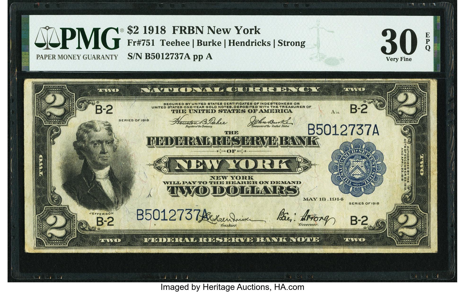 sample image for 1918 $2  New York (Fr.# 751)