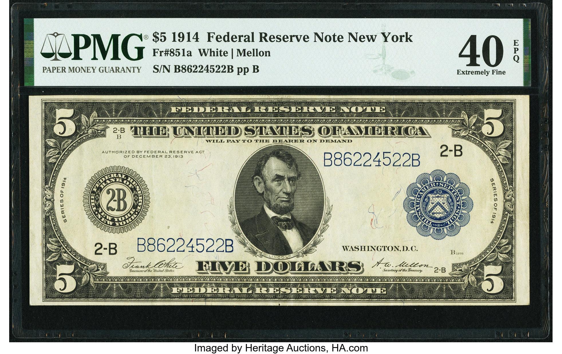 sample image for Fr.851A $5 NY