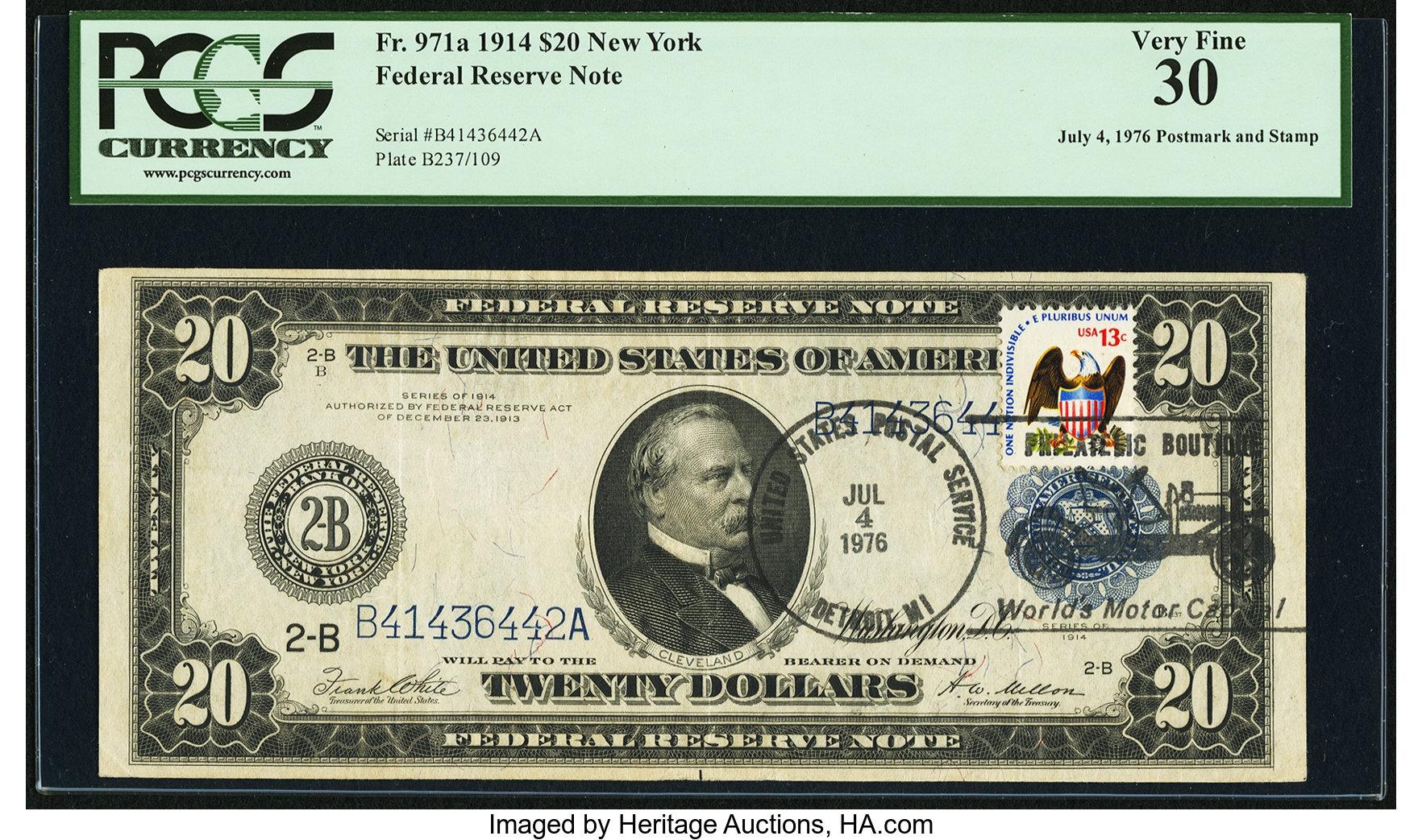 sample image for Fr.971A $20 NY