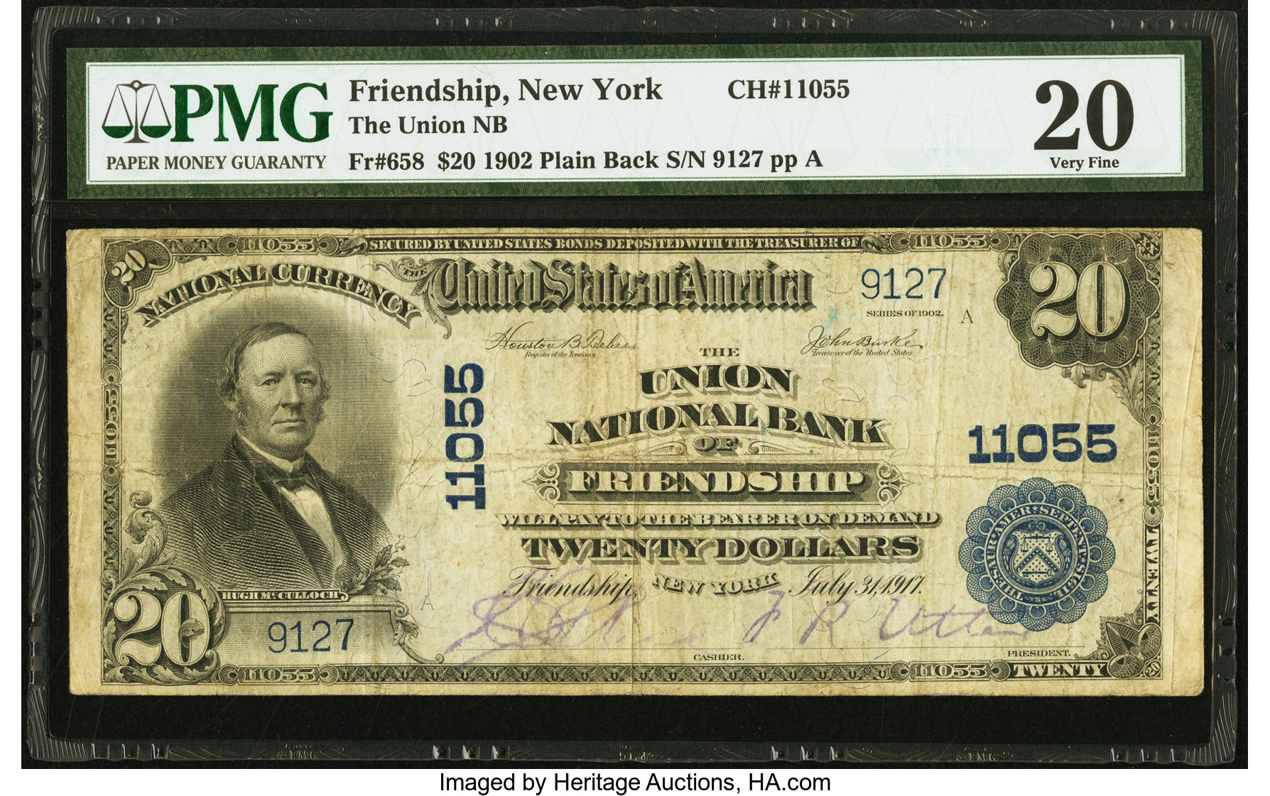 sample image for 1902 3rd Charter Period $20  Plain Back 3rd Issue (Fr.# 658)