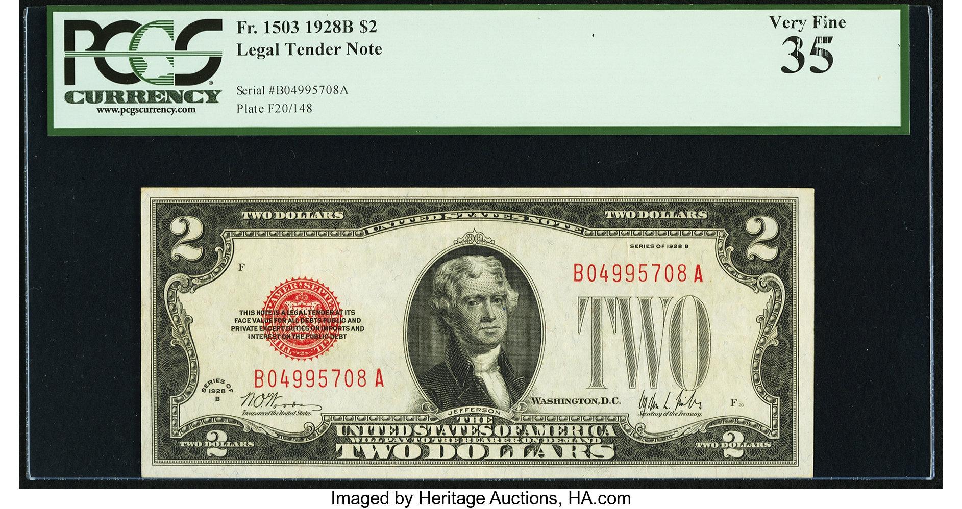 sample image for 1928B $2  (Fr.# 1503)