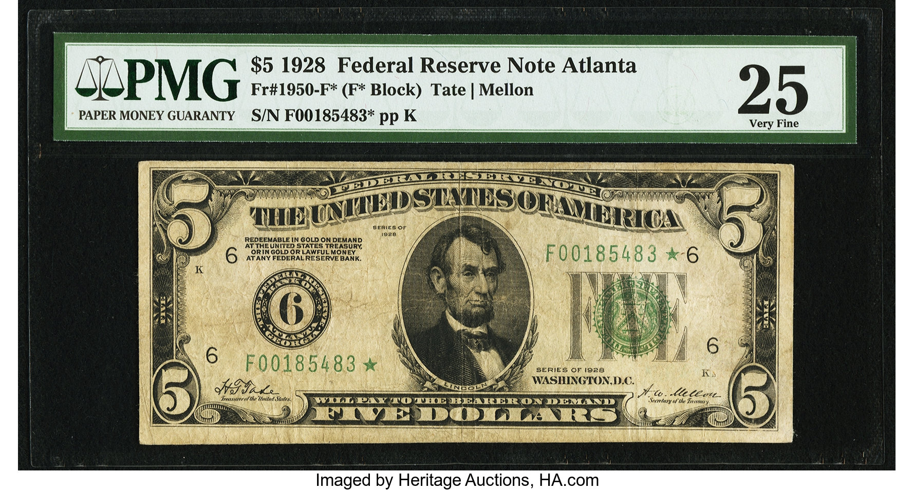 sample image for 1928 $5  Atlanta (Fr.# 1950F)
