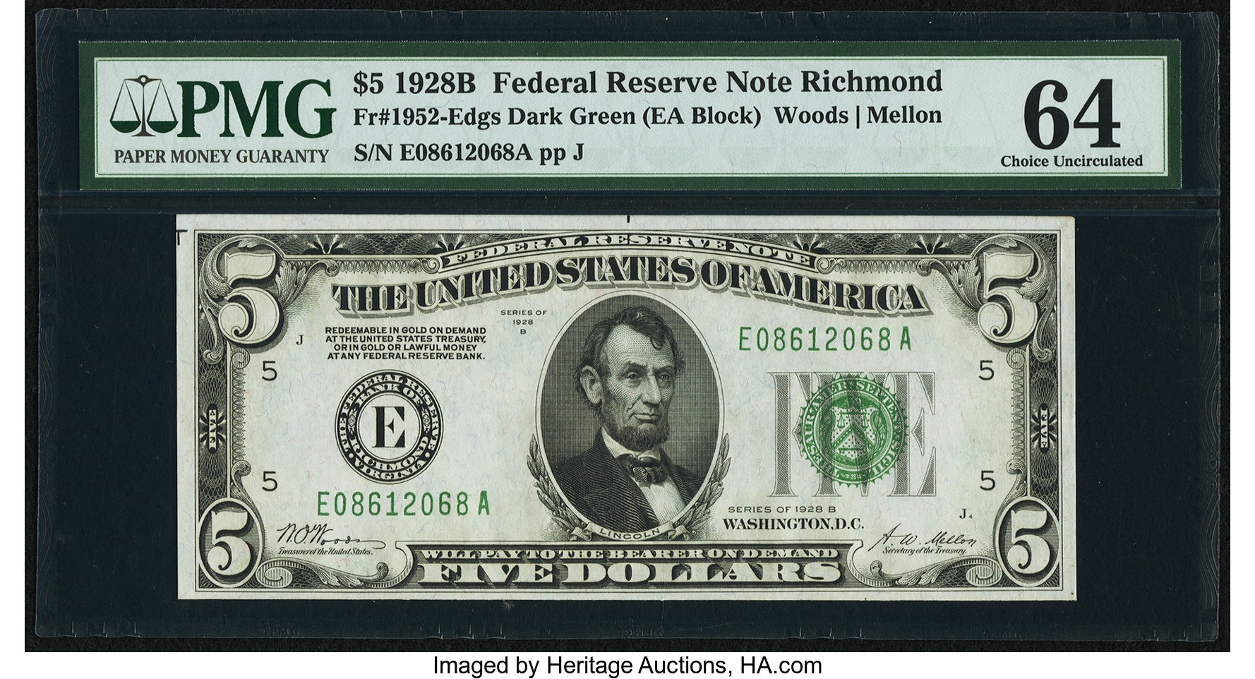 sample image for 1928B $5  Richmond (Fr.# 1952E)