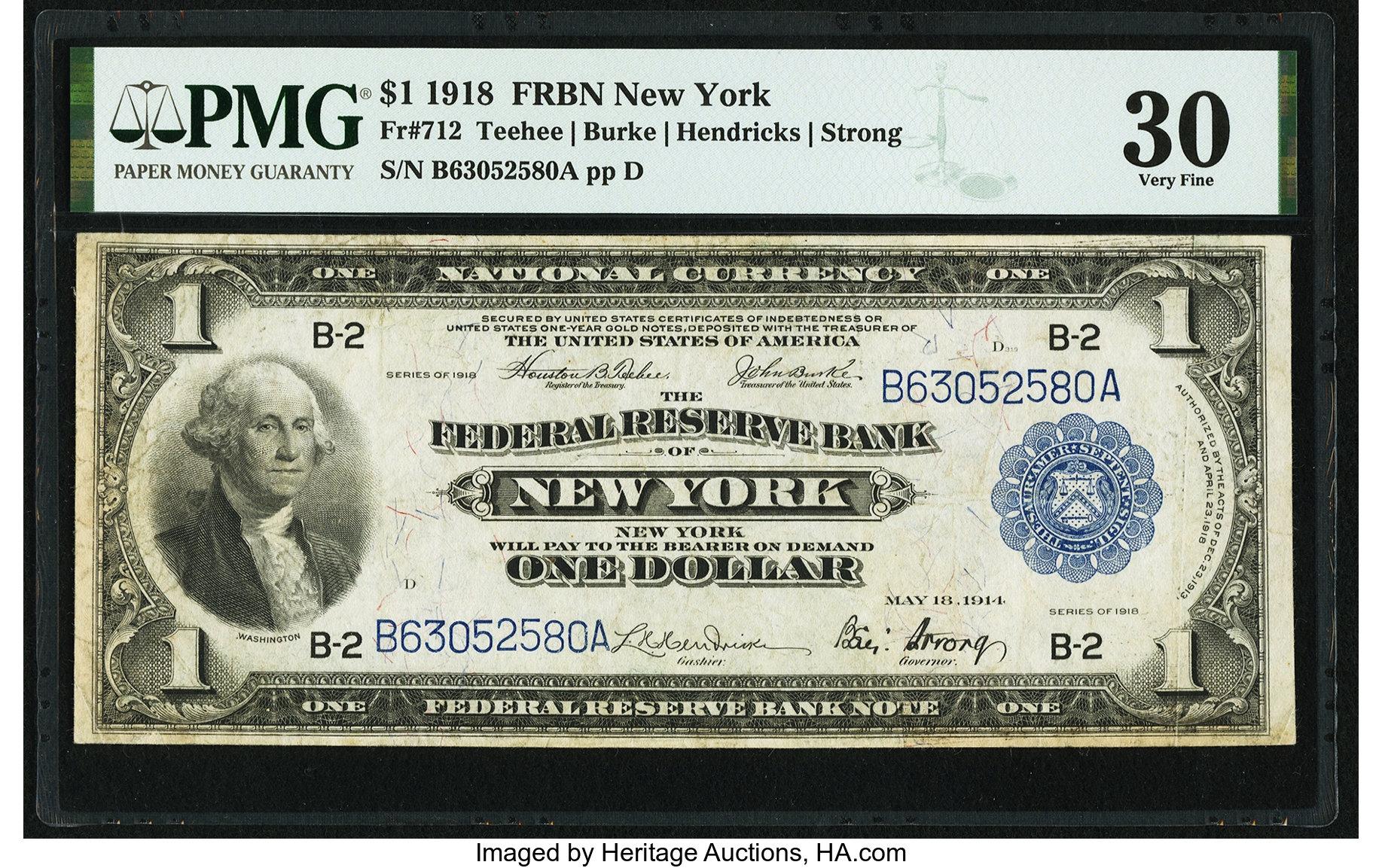 sample image for 1918 $1  New York (Fr.# 712)