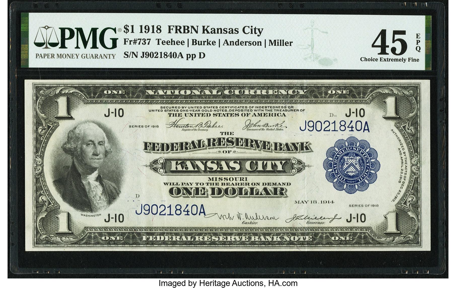 sample image for 1918 $1  Kansas City (Fr.# 737)