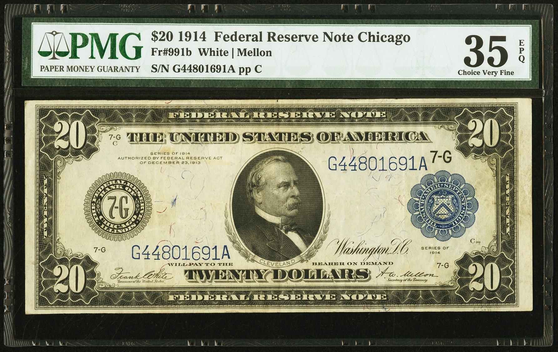 sample image for Fr.991B $20 Chicago