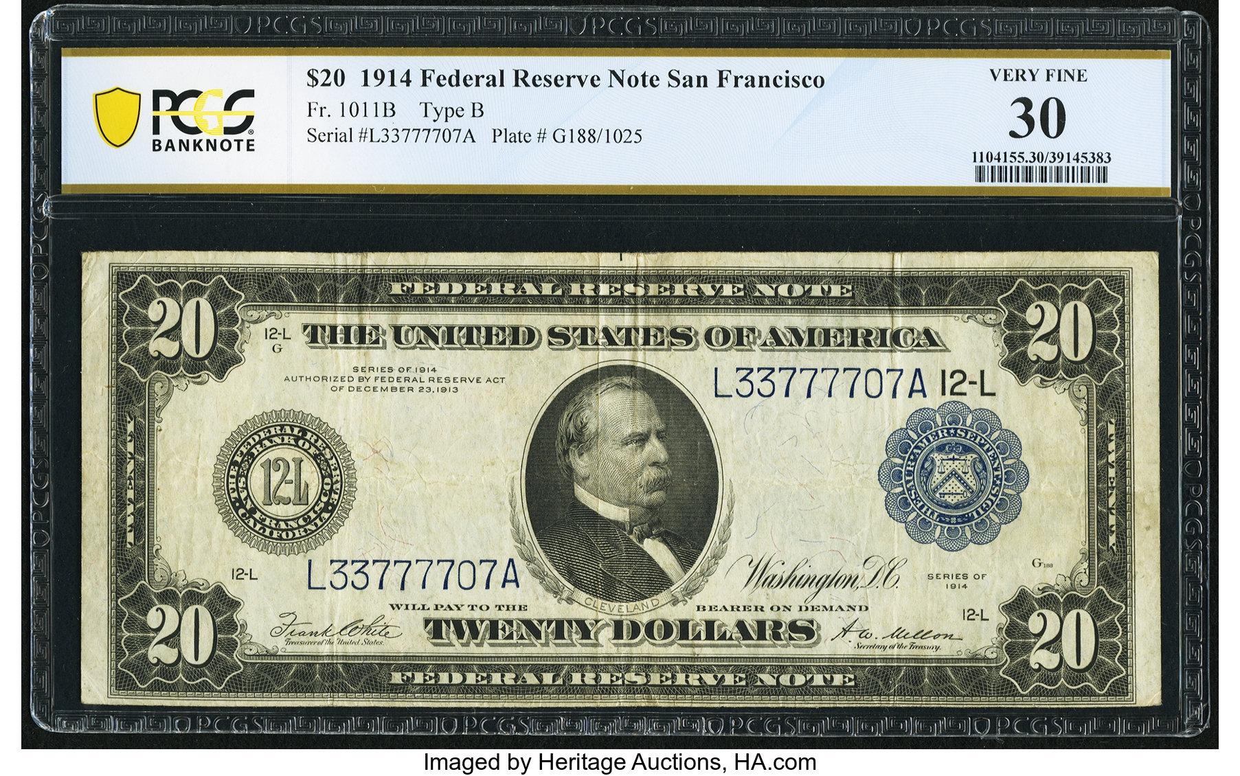 sample image for Fr.1011B $20 SF