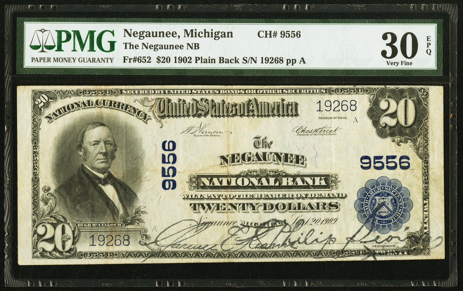 sample image for 1902 3rd Charter Period $20  Plain Back 3rd Issue (Fr.# 652)