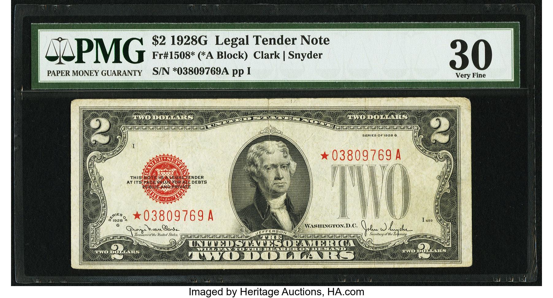 sample image for 1928G $2  (Fr.# 1508*)