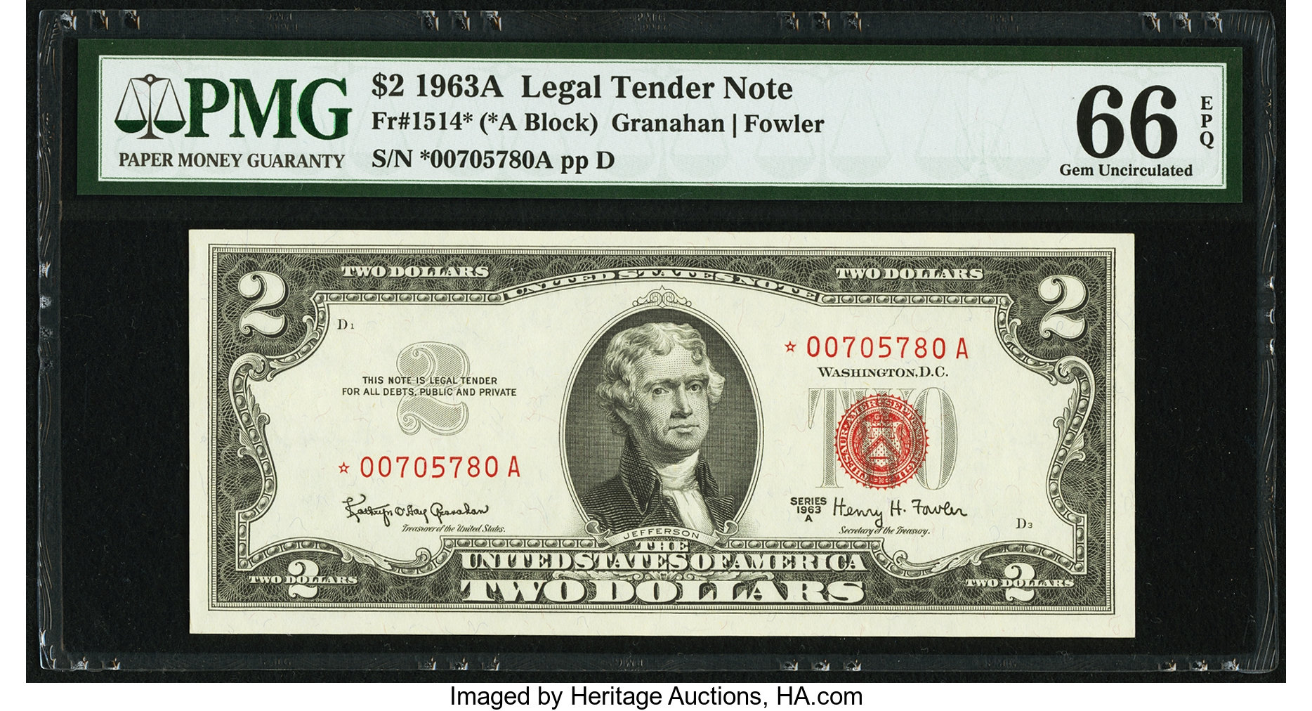 sample image for 1963A $2  (Fr.# 1514*)