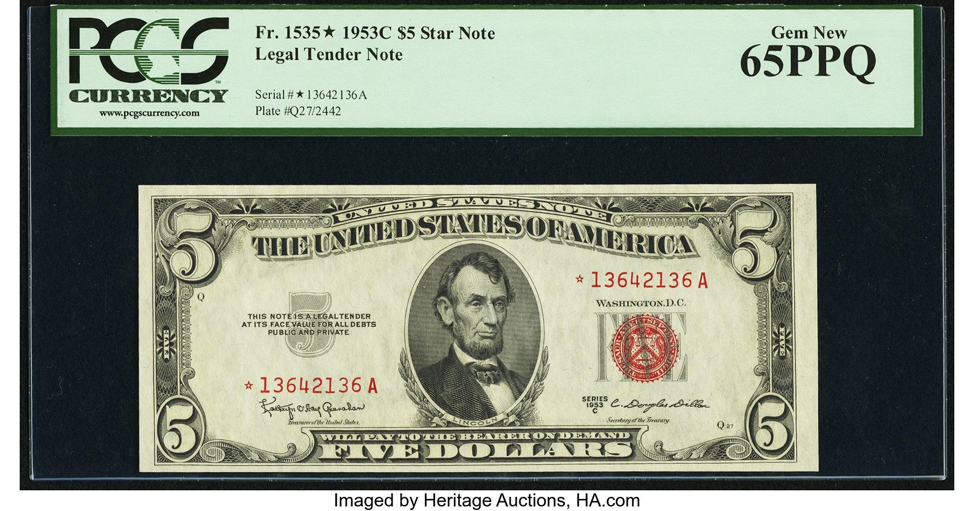 sample image for 1953C $5  (Fr.# 1535*)