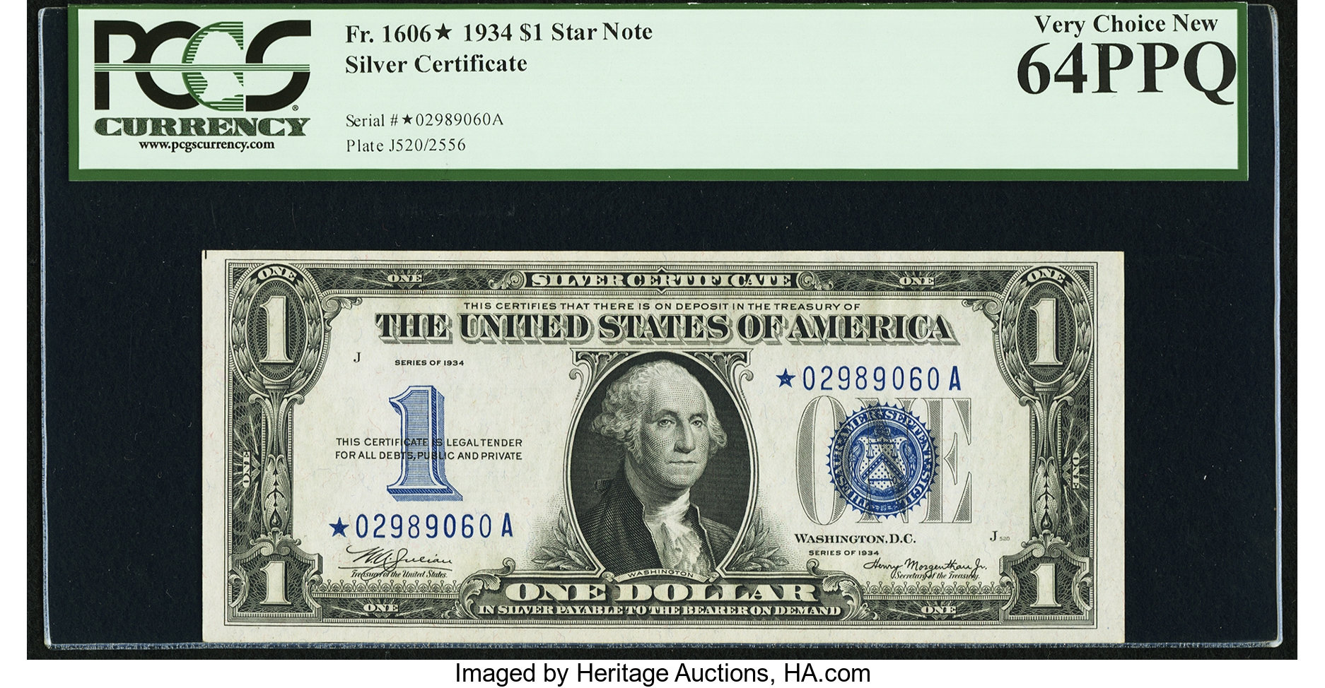 sample image for 1934 $1  Replacement (Fr.# 1606*)