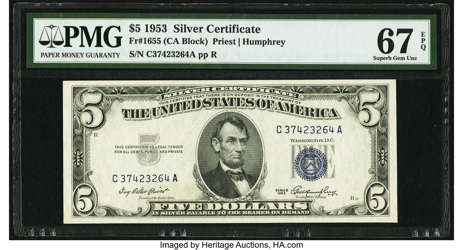 sample image for 1953 $5  (Fr.# 1655)