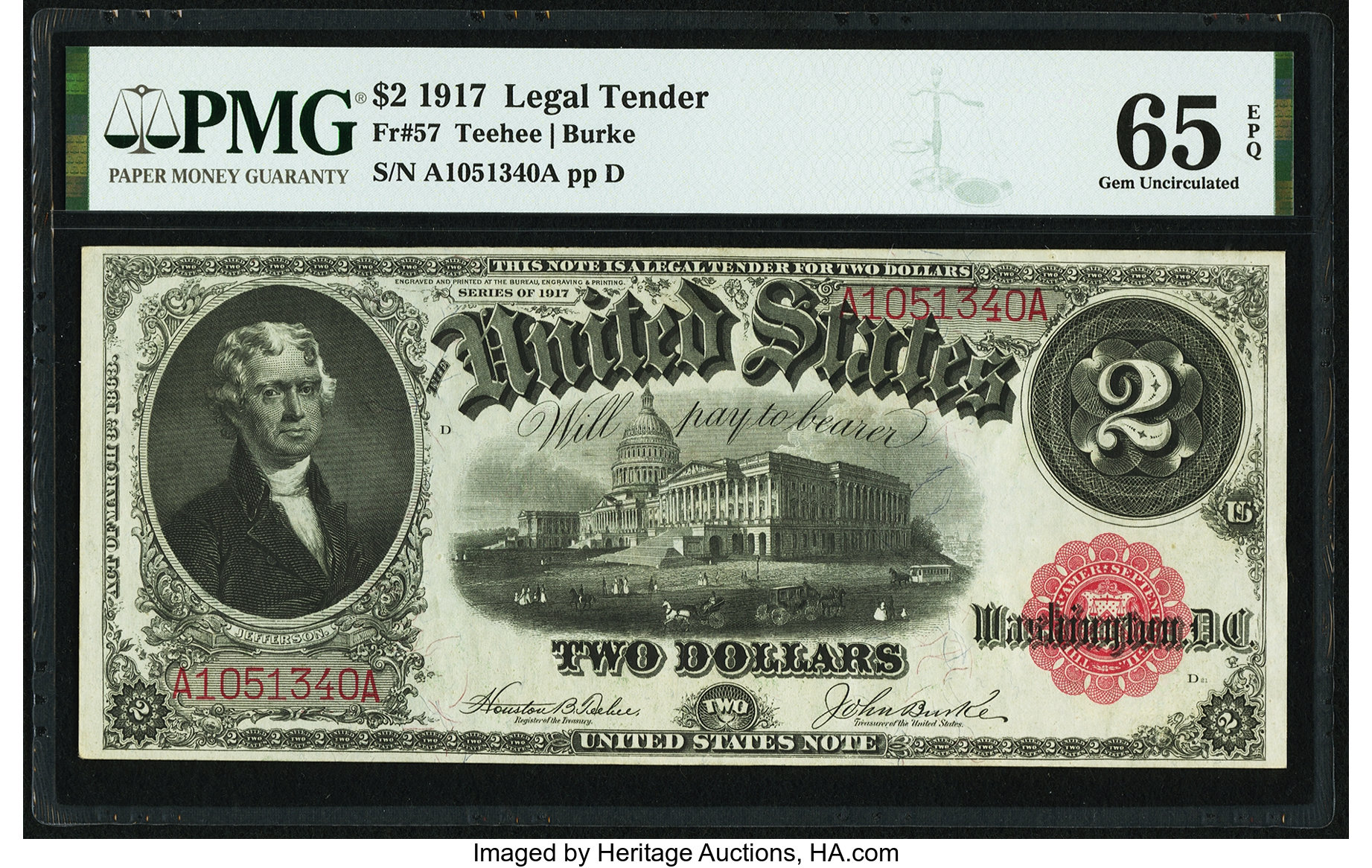 sample image for 1917 $2  (Fr.# 57)