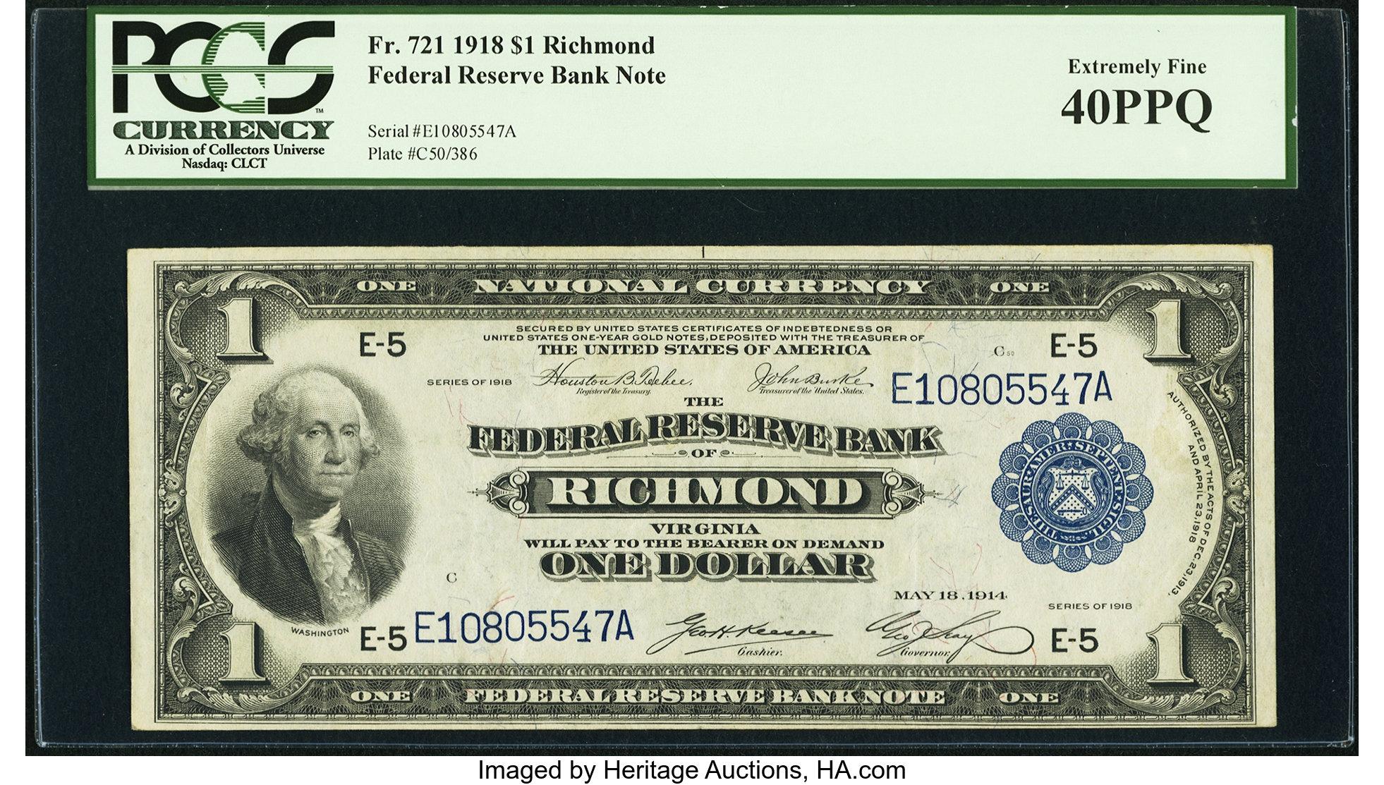 sample image for 1918 $1  Richmond (Fr.# 721)