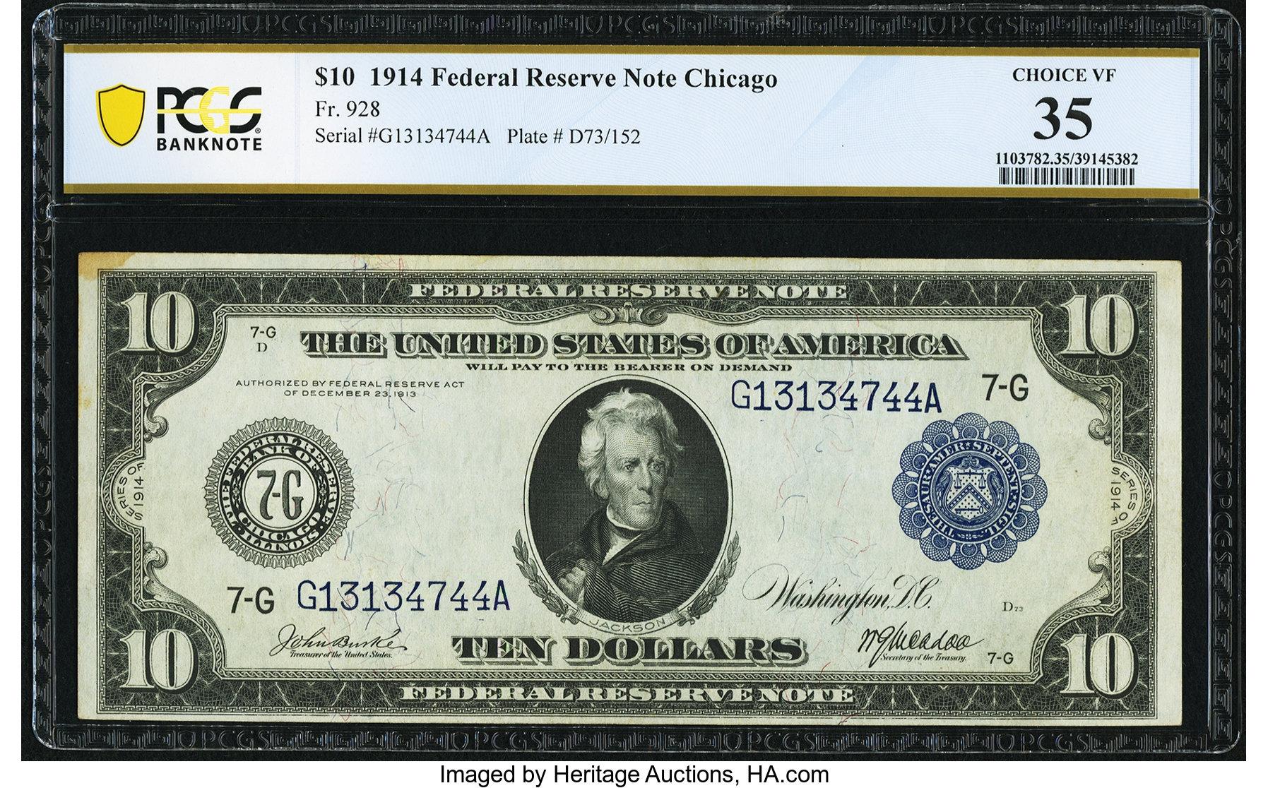 sample image for Fr.928 $10 Chicago