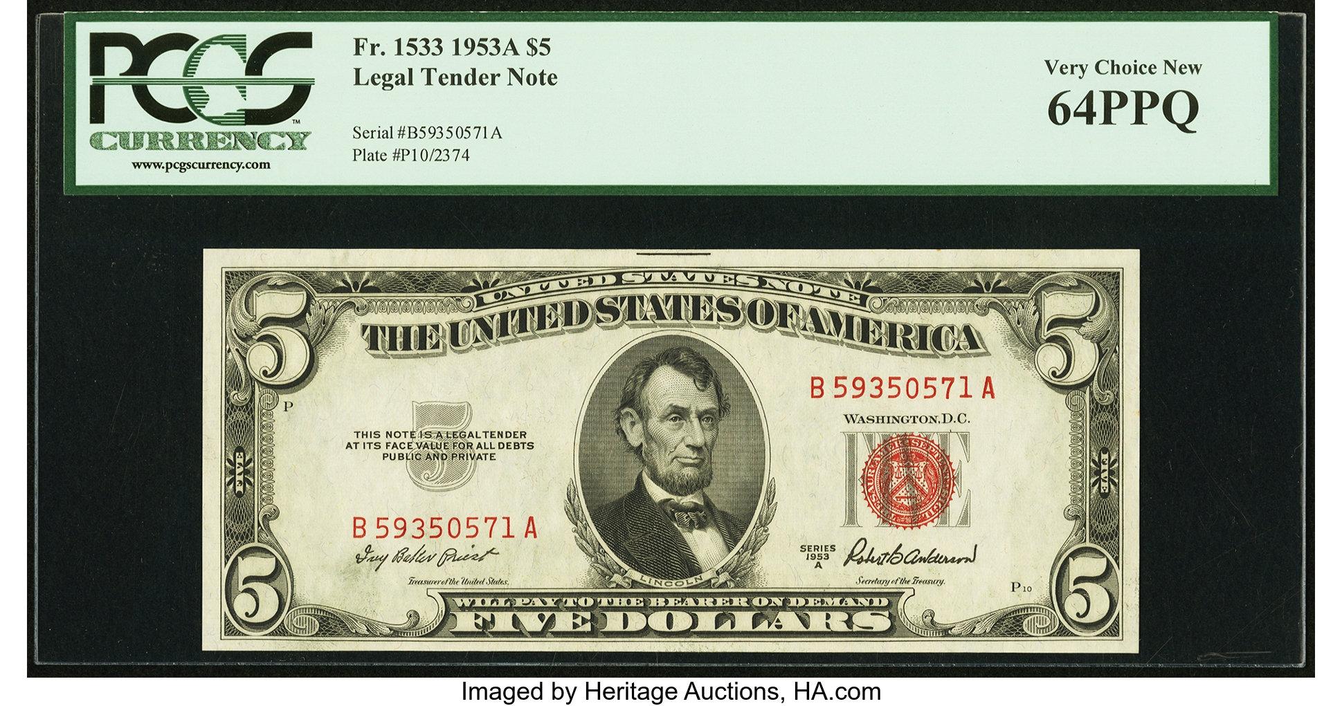 sample image for 1953A $5  (Fr.# 1533)