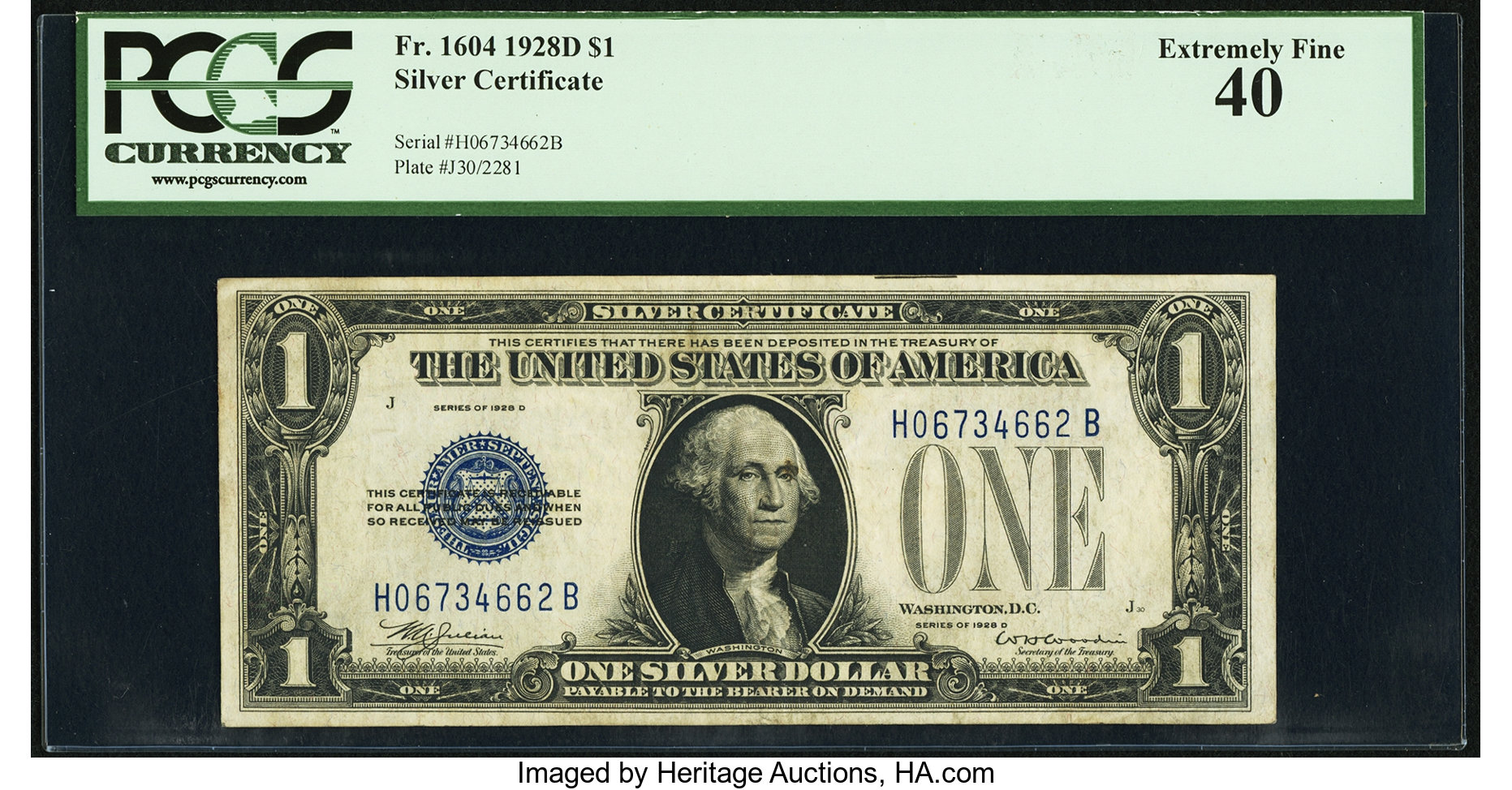 sample image for 1928D $1  (Fr.# 1604)