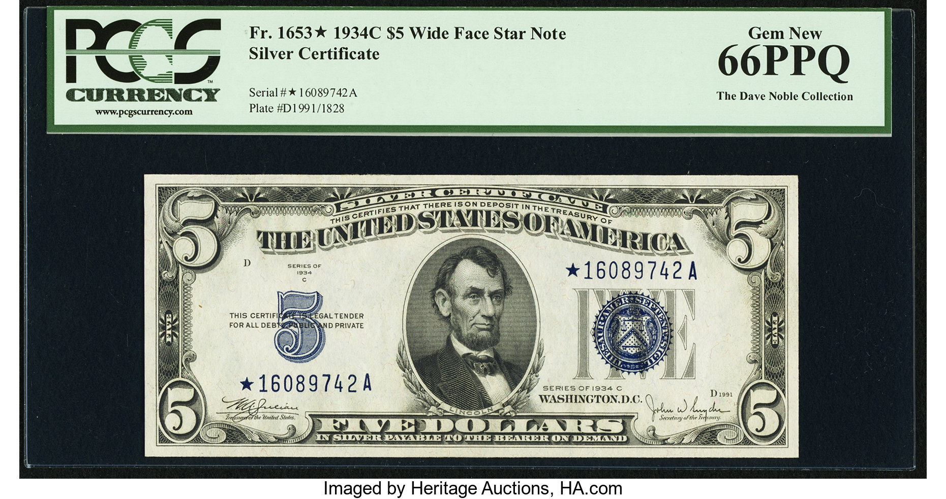 sample image for 1934C $5  Replacement (Fr.# 1653*)