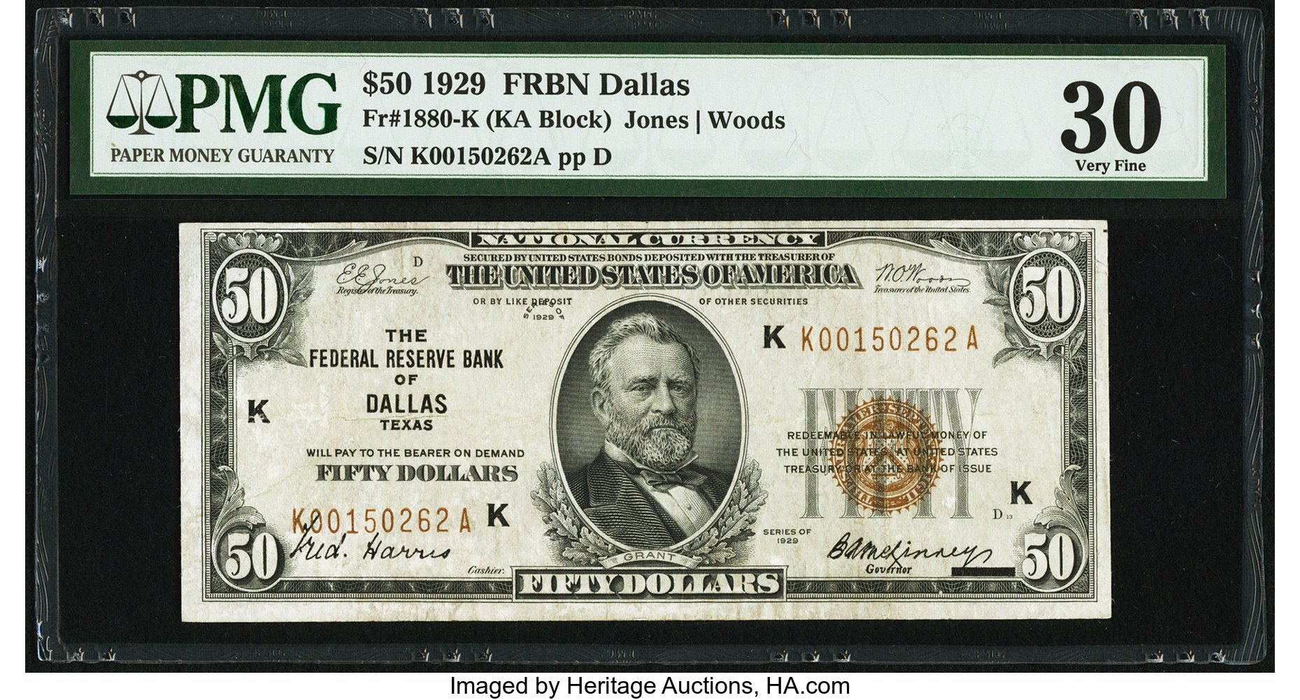 sample image for 1929 $50  Dallas (Fr.# 1880K)
