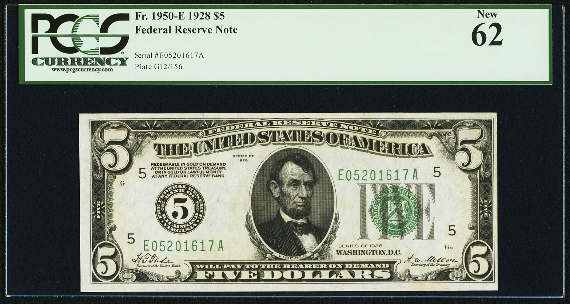 sample image for 1928 $5  Richmond (Fr.# 1950E)