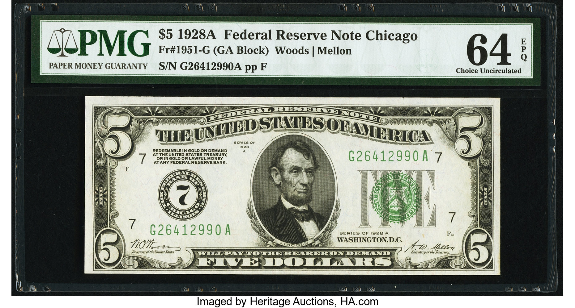 sample image for 1928A $5  Chicago (Fr.# 1951G)