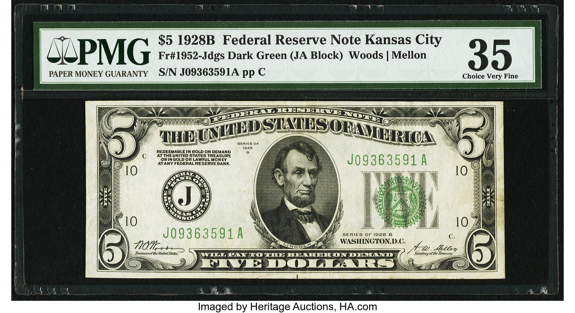 sample image for 1928B $5  Kansas City (Fr.# 1952J)