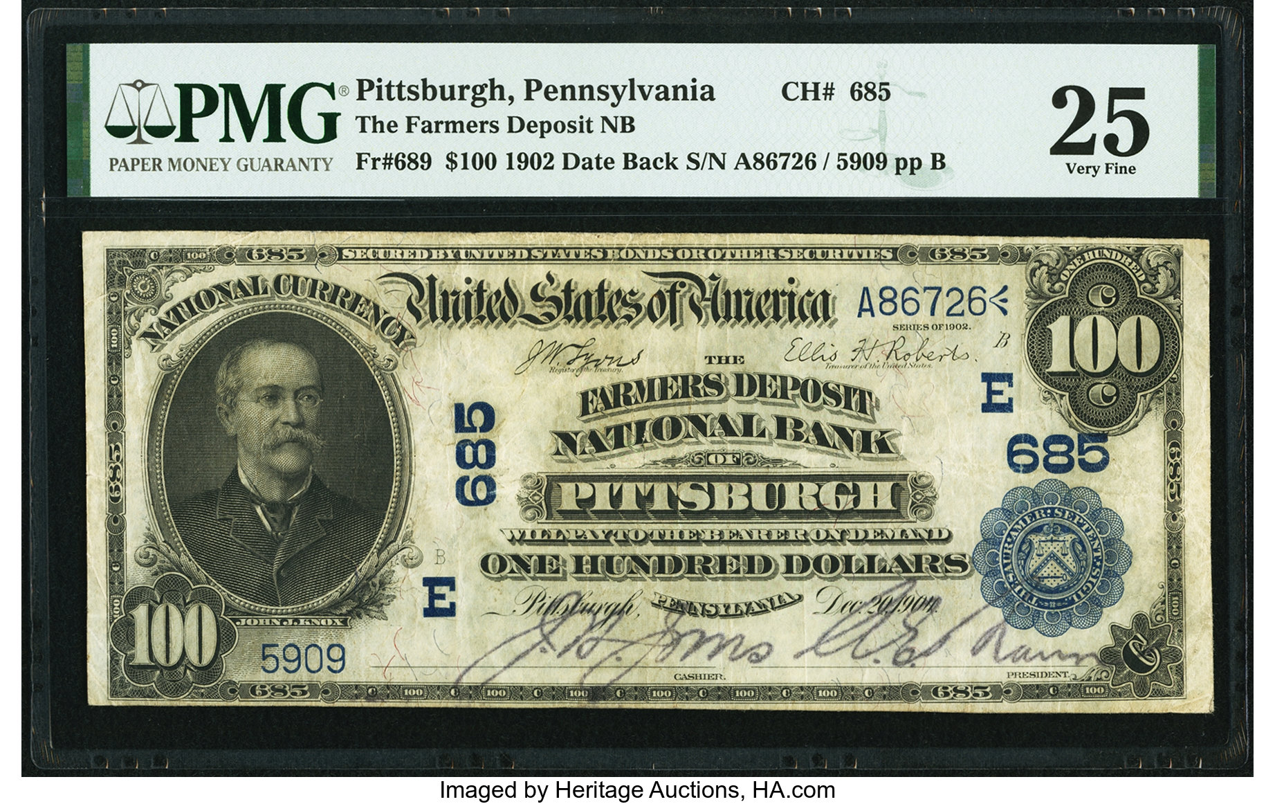 sample image for 1902 3rd Charter Period $100  Date Back 2nd Issue (Fr.# 689)