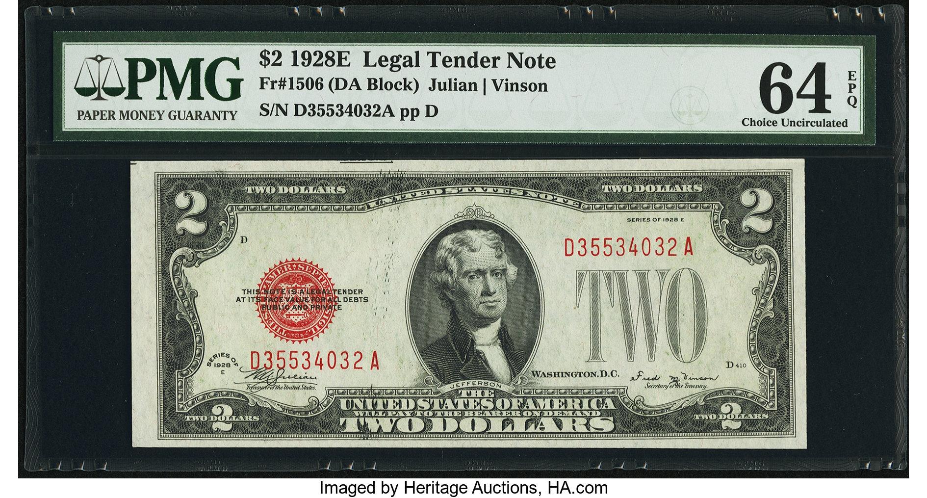 sample image for 1928E $2  (Fr.# 1506)