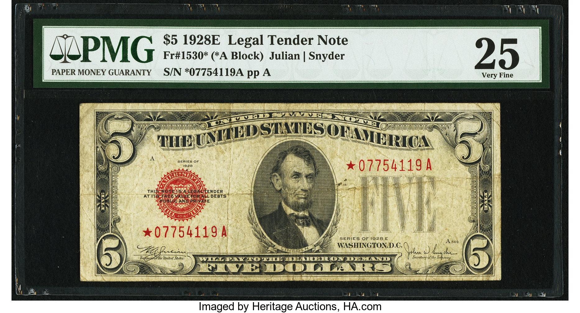 sample image for 1928E $5  (Fr.# 1530*)