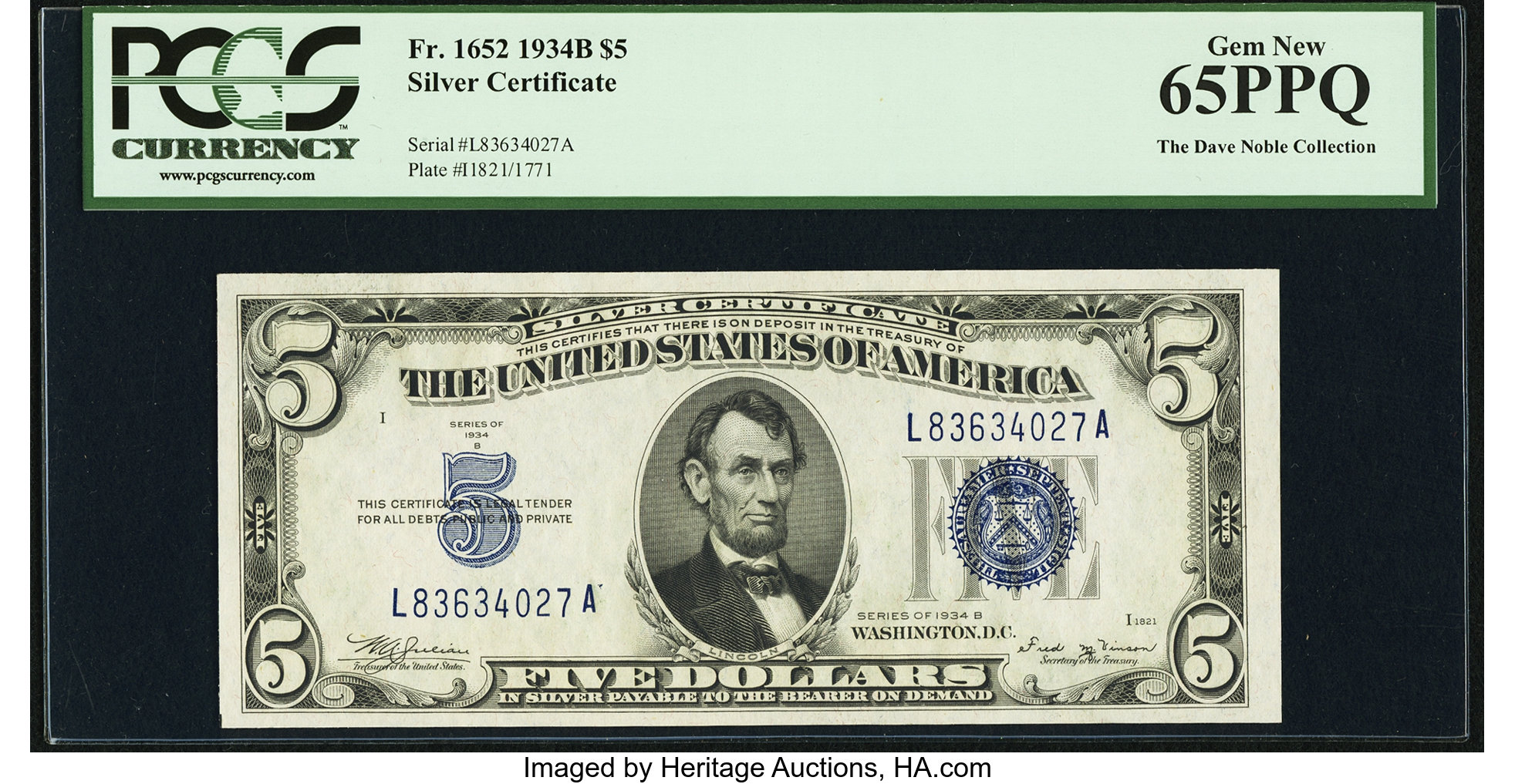sample image for 1934B $5  (Fr.# 1652)