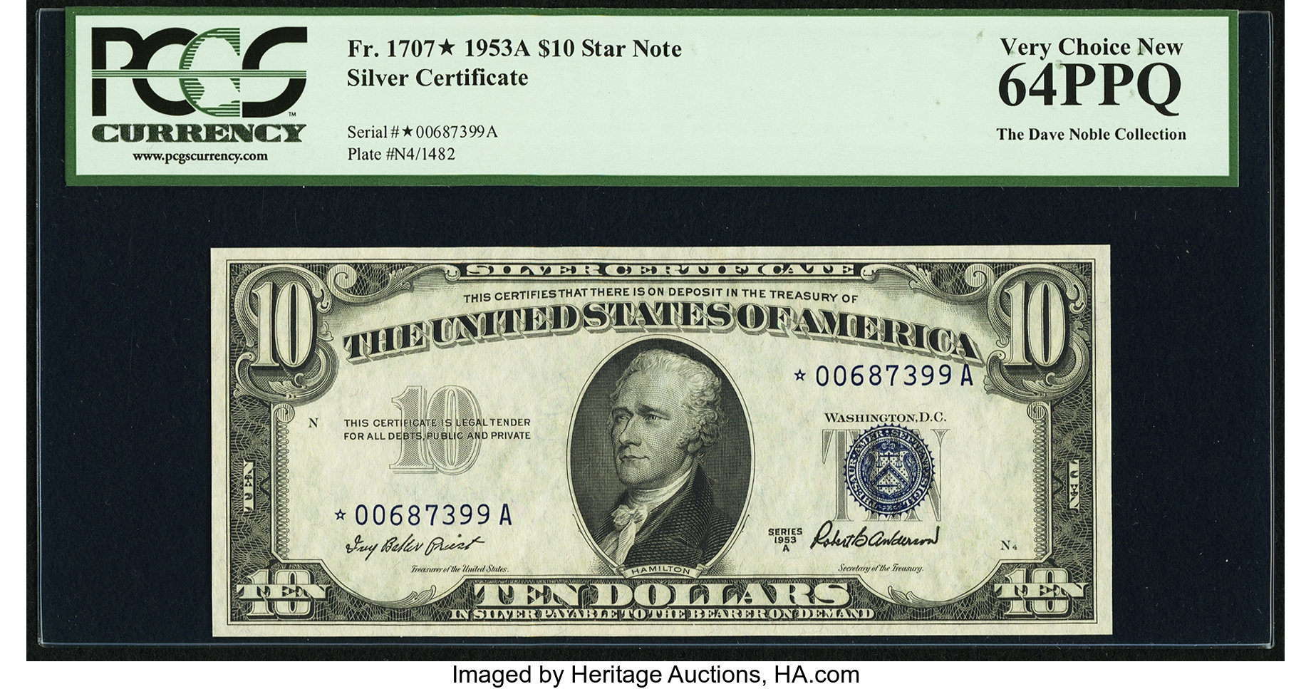 sample image for 1953A $10  Replacement (Fr.# 1707*)