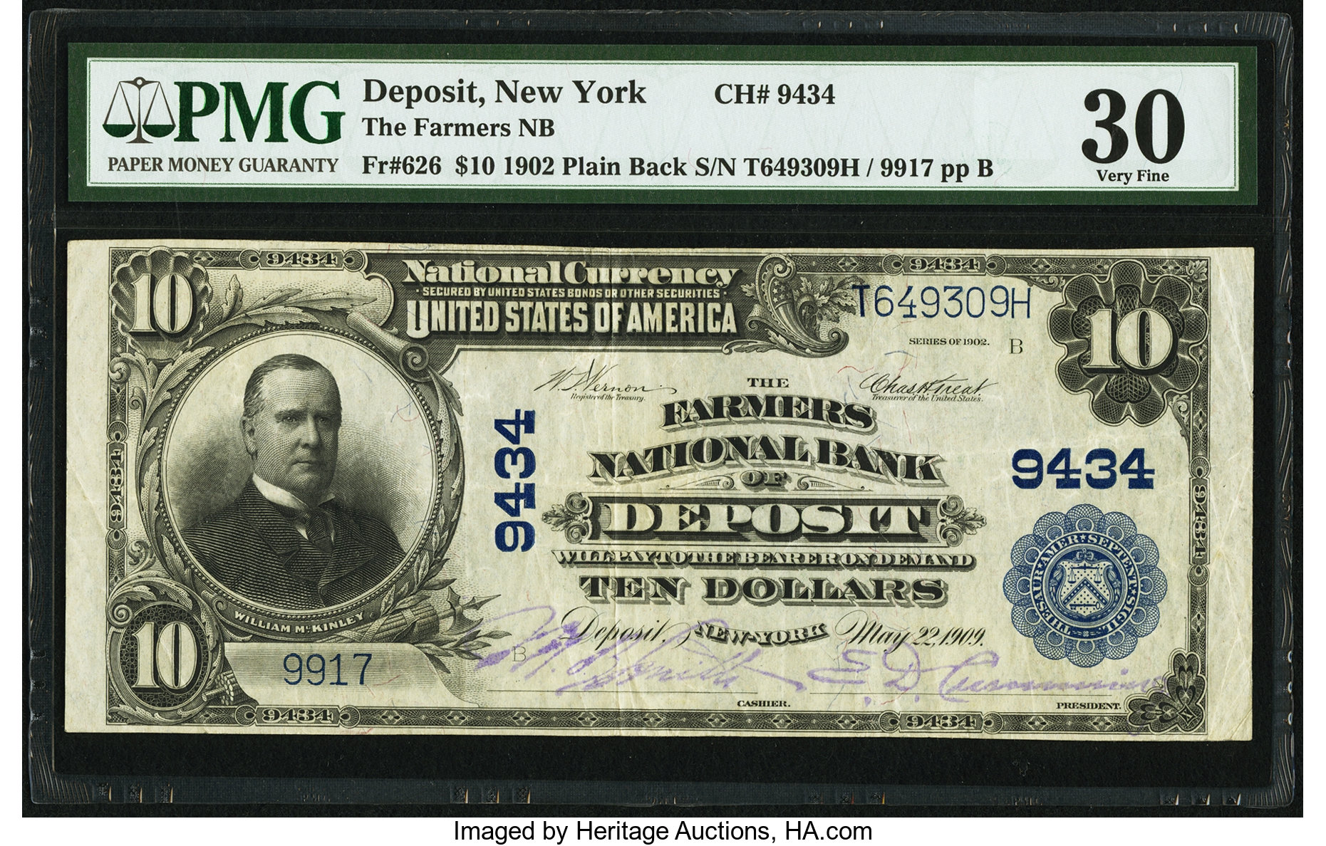 sample image for 1902 3rd Charter Period $10  Plain Back 3rd Issue (Fr.# 626)
