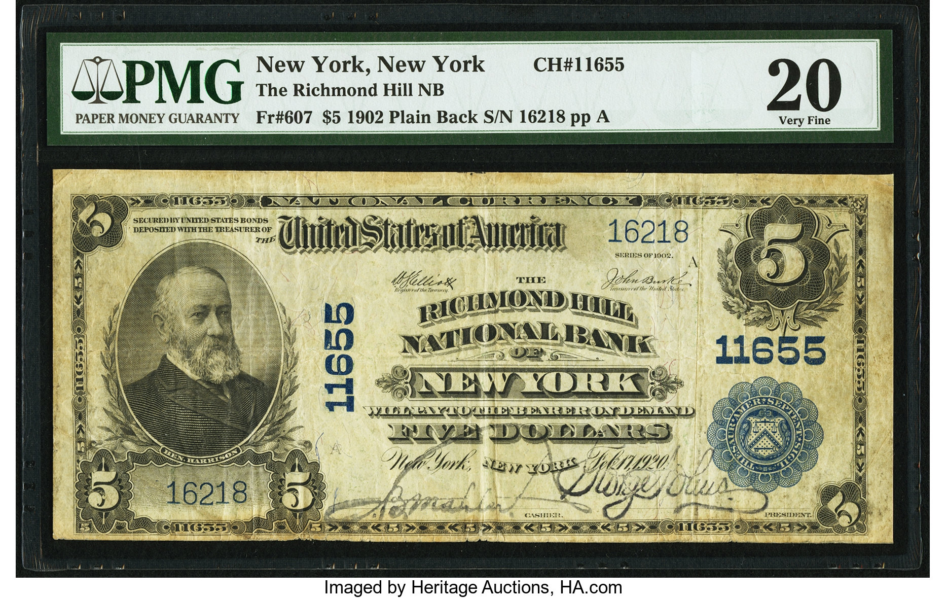 sample image for 1902 3rd Charter Period $5  Plain Back 3rd Issue (Fr.# 607)