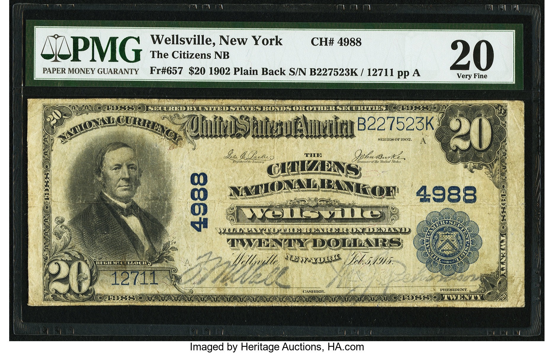 sample image for 1902 3rd Charter Period $20  Plain Back 3rd Issue (Fr.# 657)