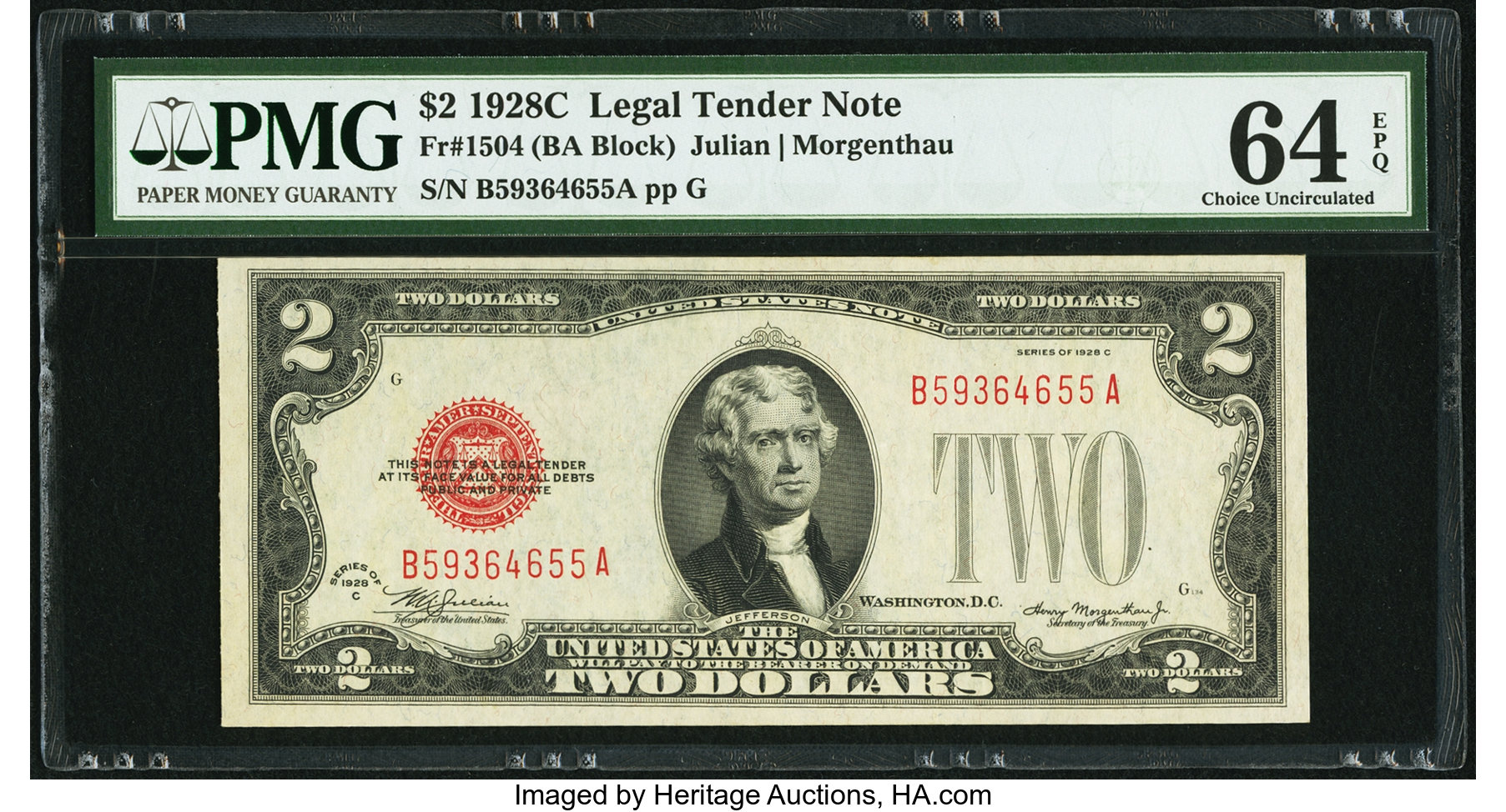 sample image for 1928C $2  (Fr.# 1504)