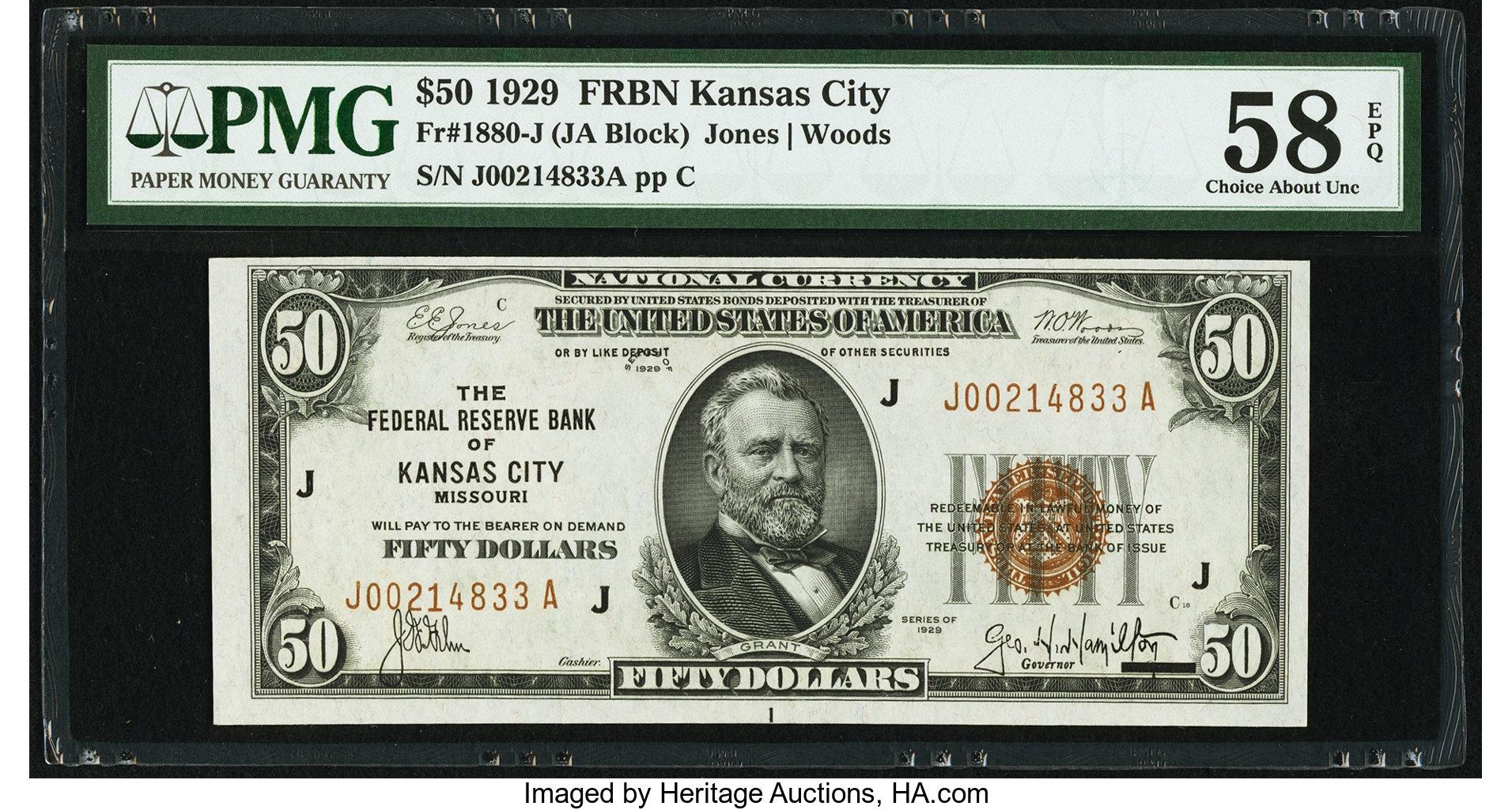 sample image for 1929 $50  Kansas City (Fr.# 1880J)