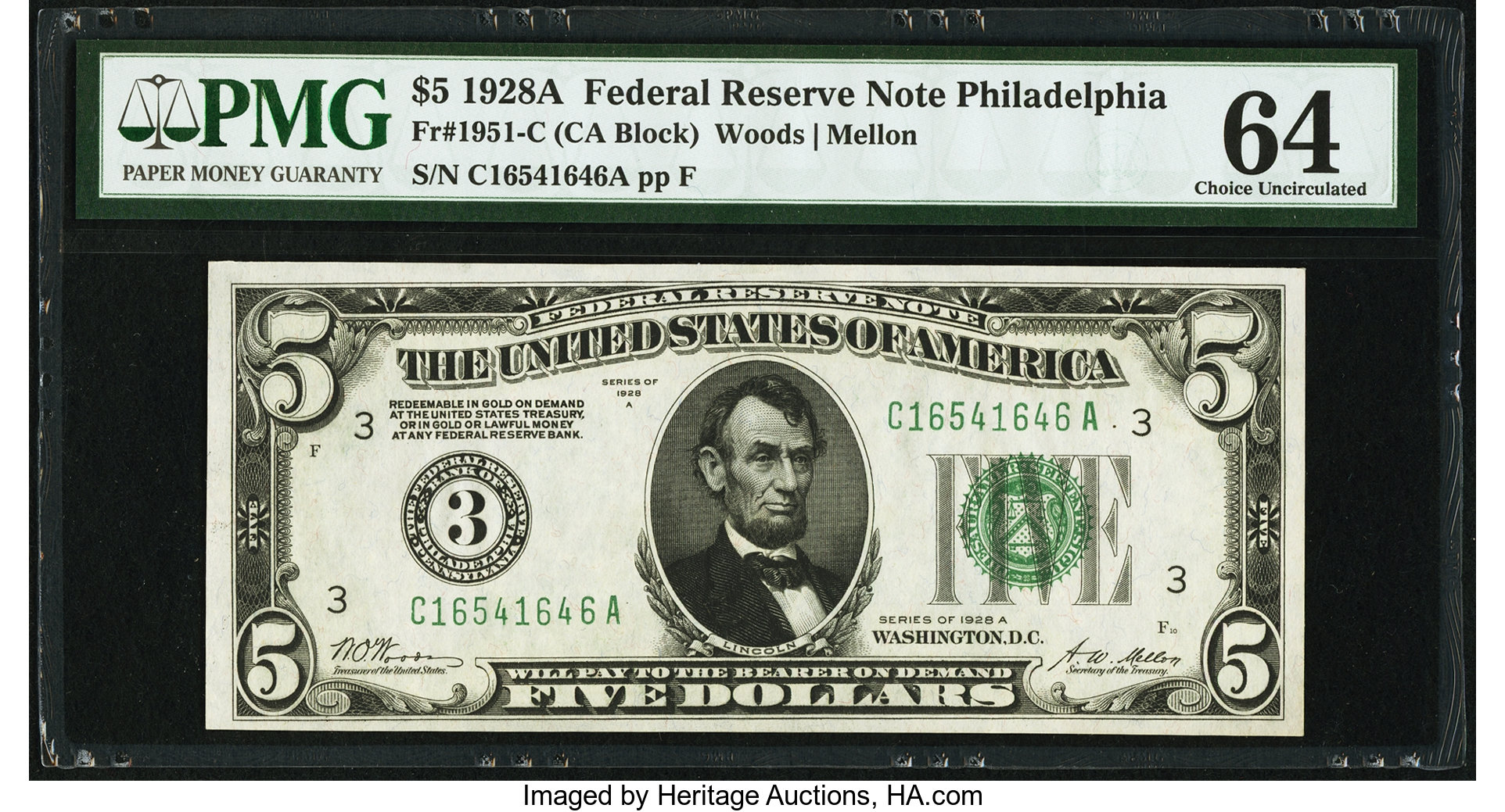 sample image for 1928A $5  Philadelphia (Fr.# 1951C)