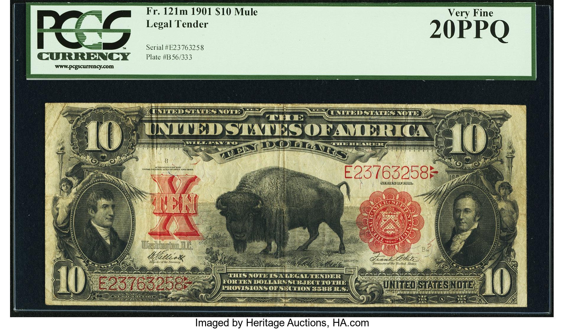 sample image for 1901 $10  (Fr.# 121)